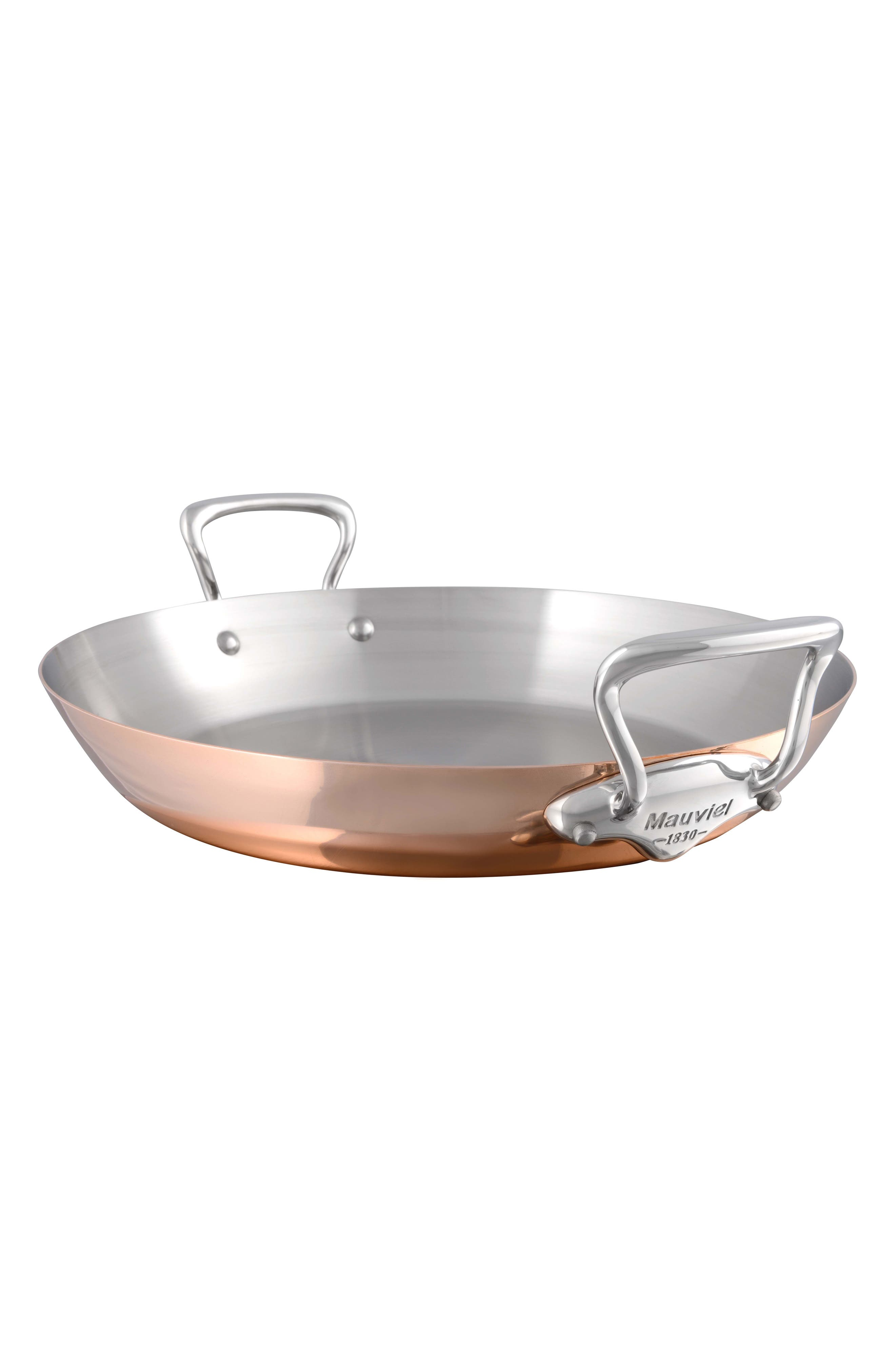 Mauviel M'heritage M'150s Copper & Stainless Steel Paella Pan