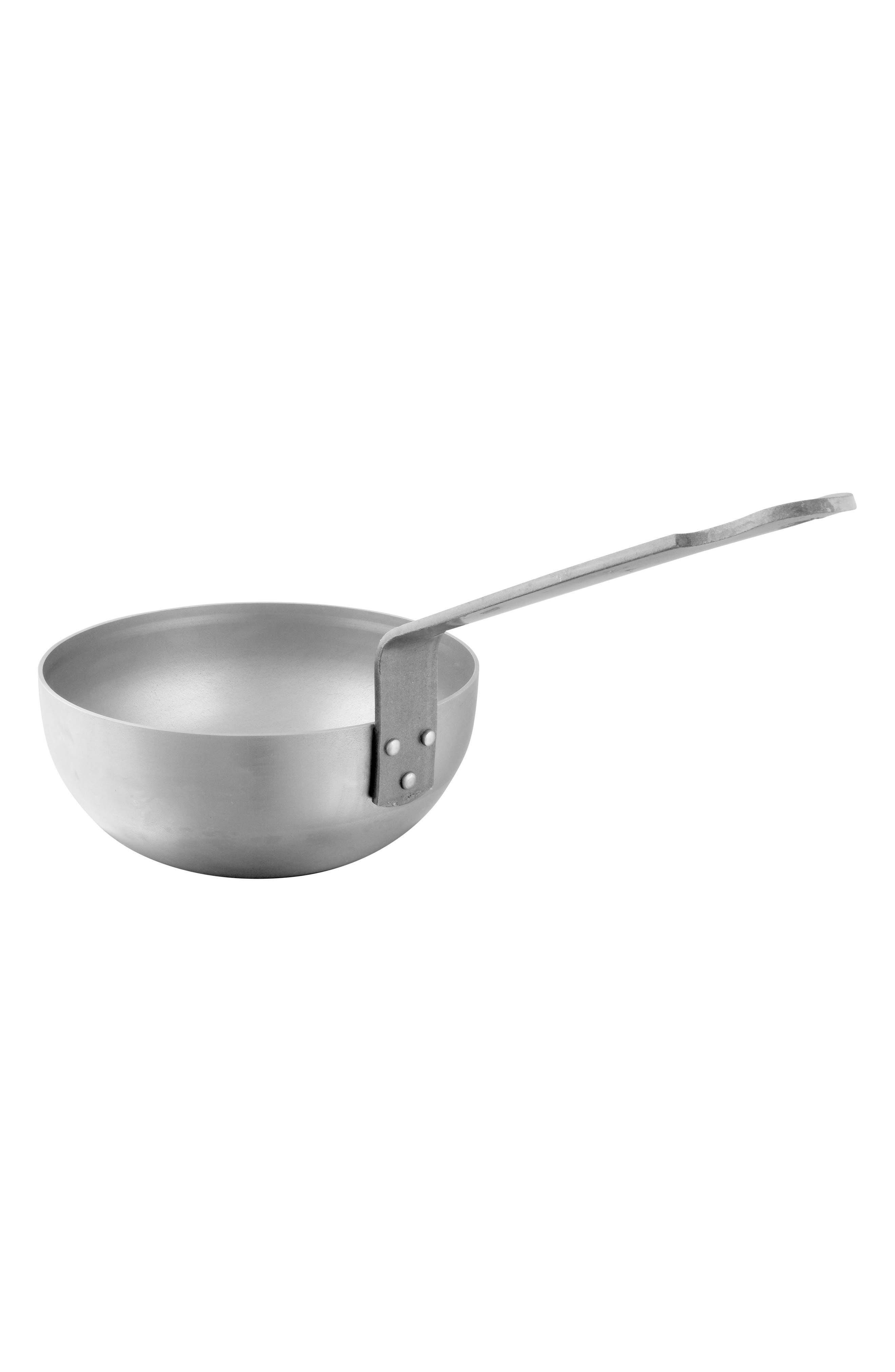 M'steel Carbon Steel Splayed Curved Sauté Pan,                         Main,                         color, Steel