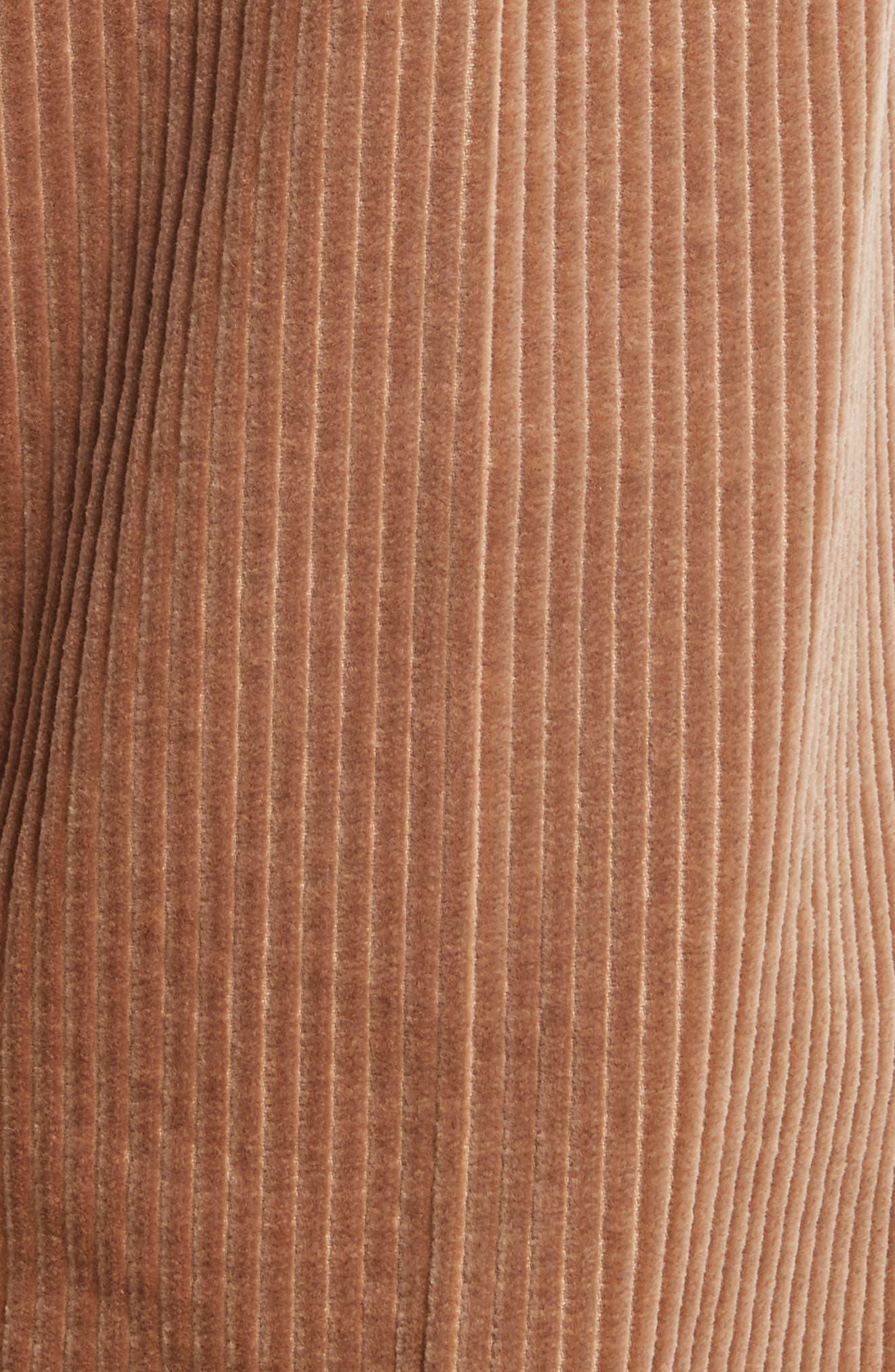 Corduroy Wide Leg Crop Pants,                             Alternate thumbnail 6, color,                             Sand