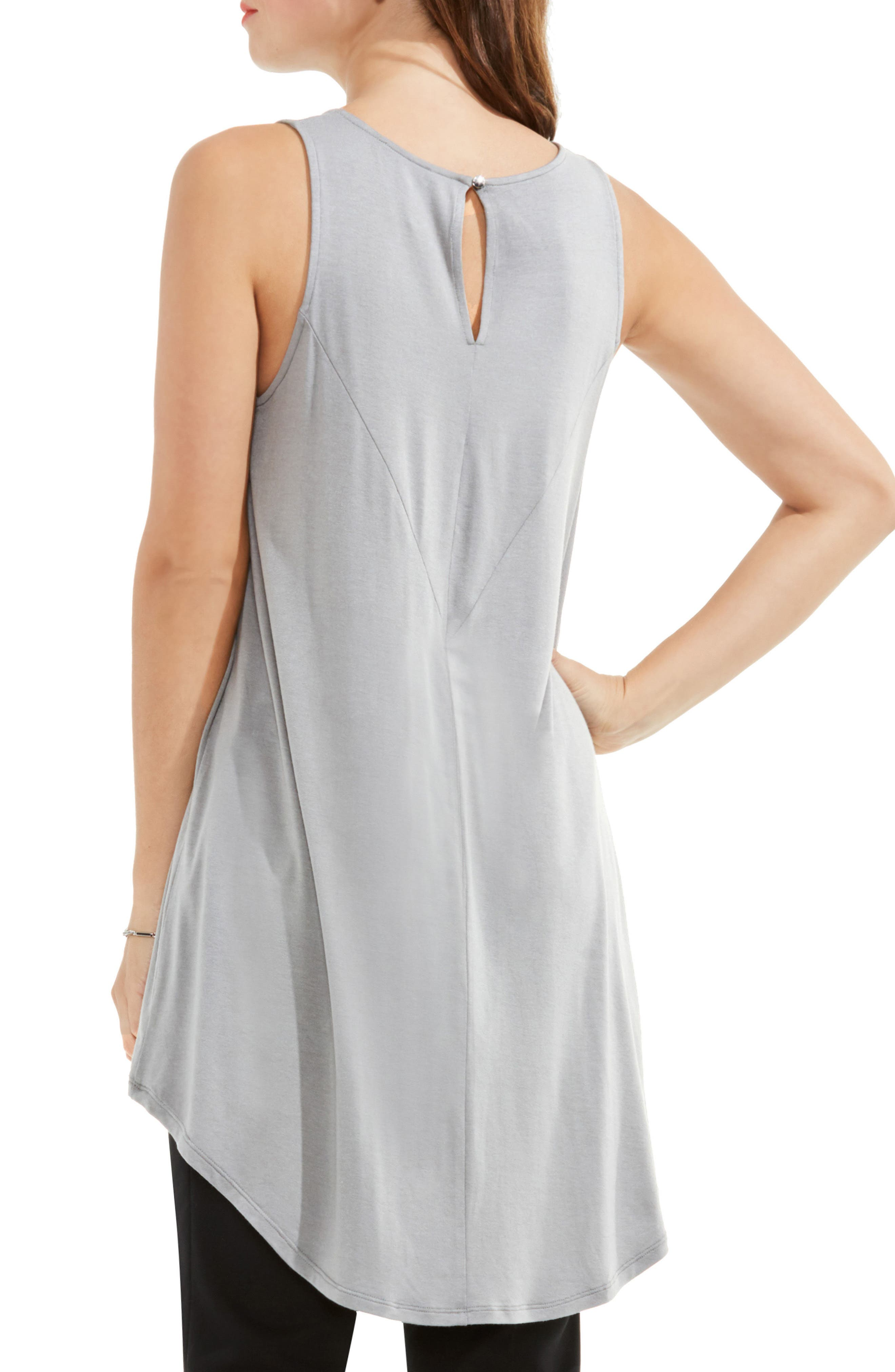Alternate Image 2  - Vince Camuto Sleeveless High/Low Top