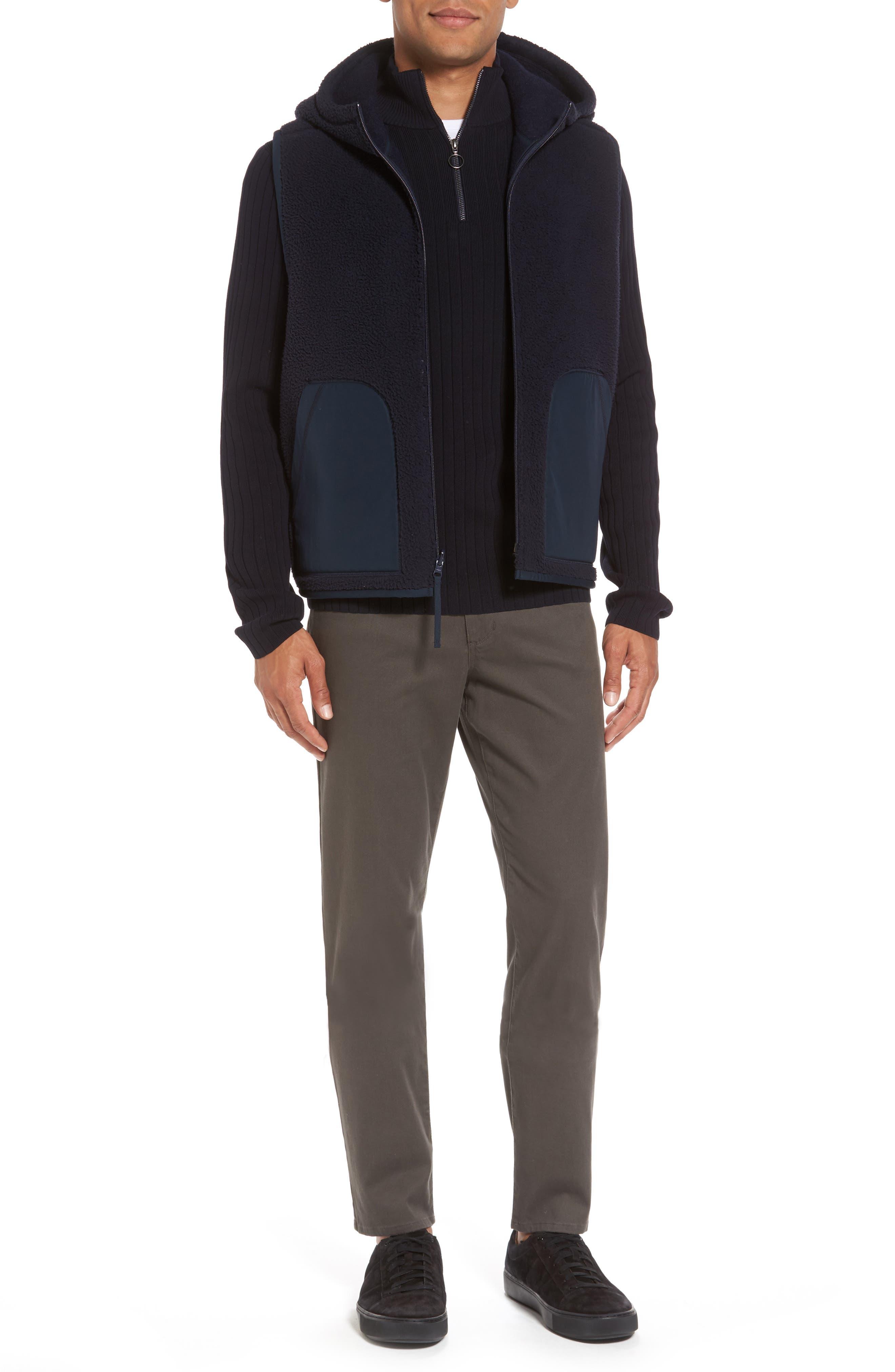 Half Zip Mock Neck Sweater,                             Alternate thumbnail 7, color,                             Coastal