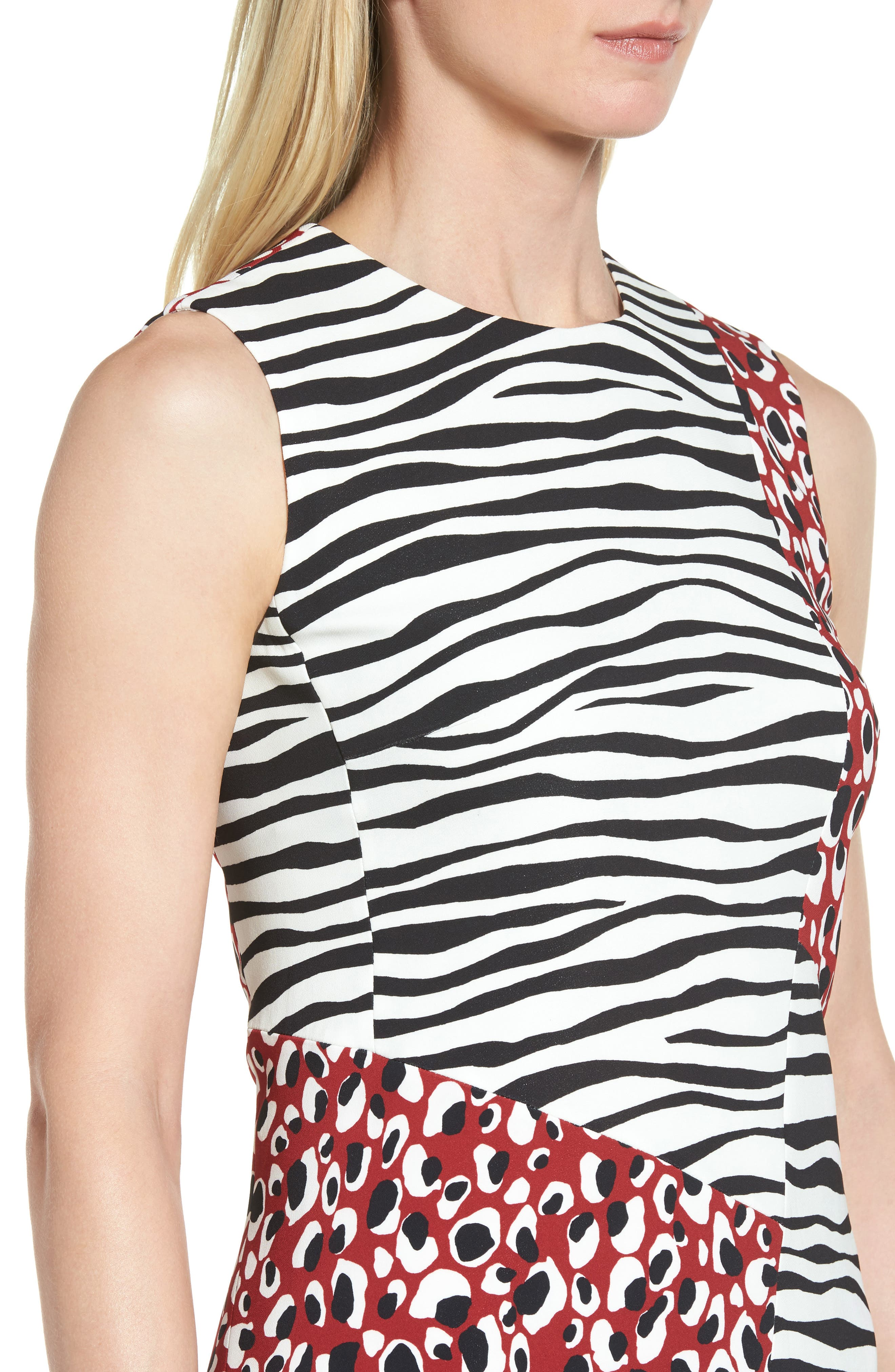 Alternate Image 4  - BOSS Diseba Animal Print Sheath Dress