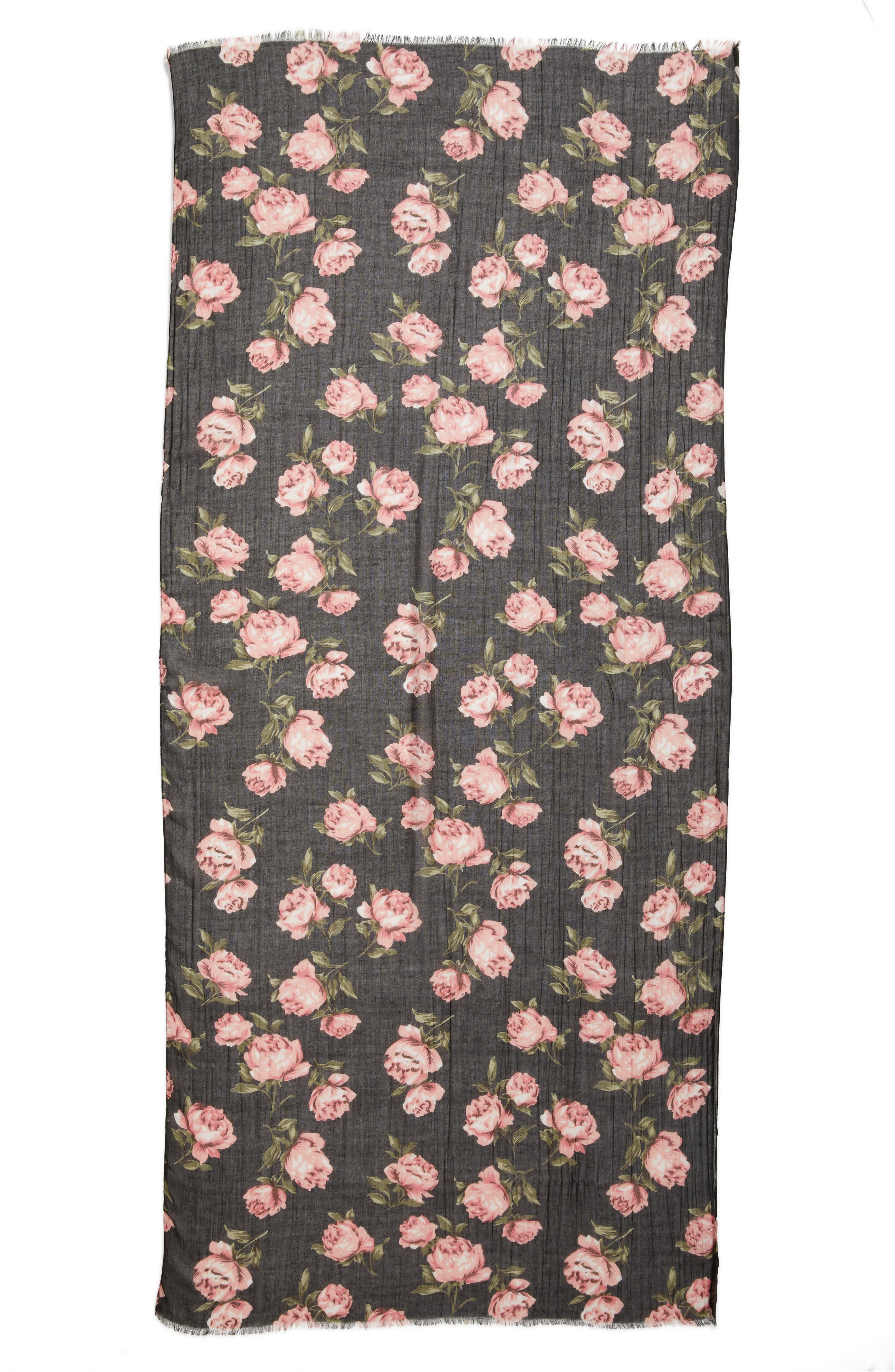 Alternate Image 2  - Sole Society Floral Print Scarf