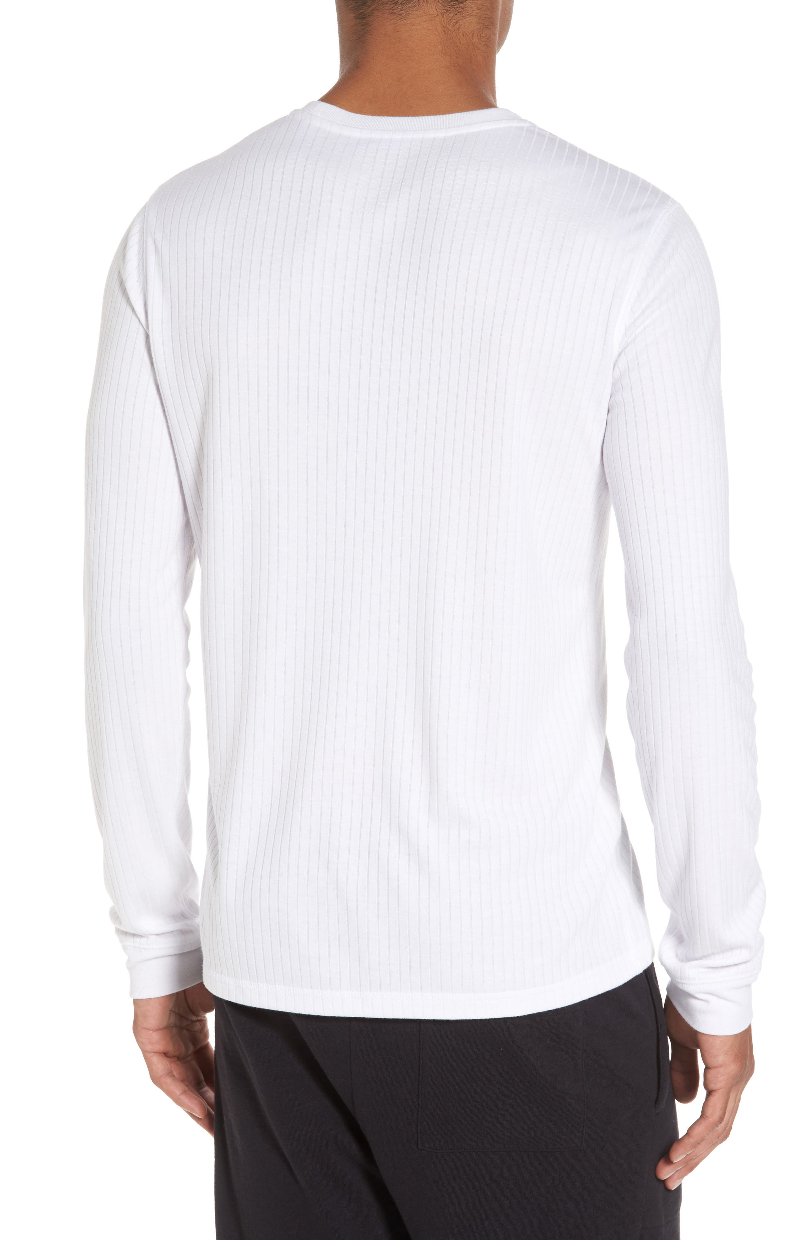 Ribbed Pullover,                             Alternate thumbnail 2, color,                             Optic White