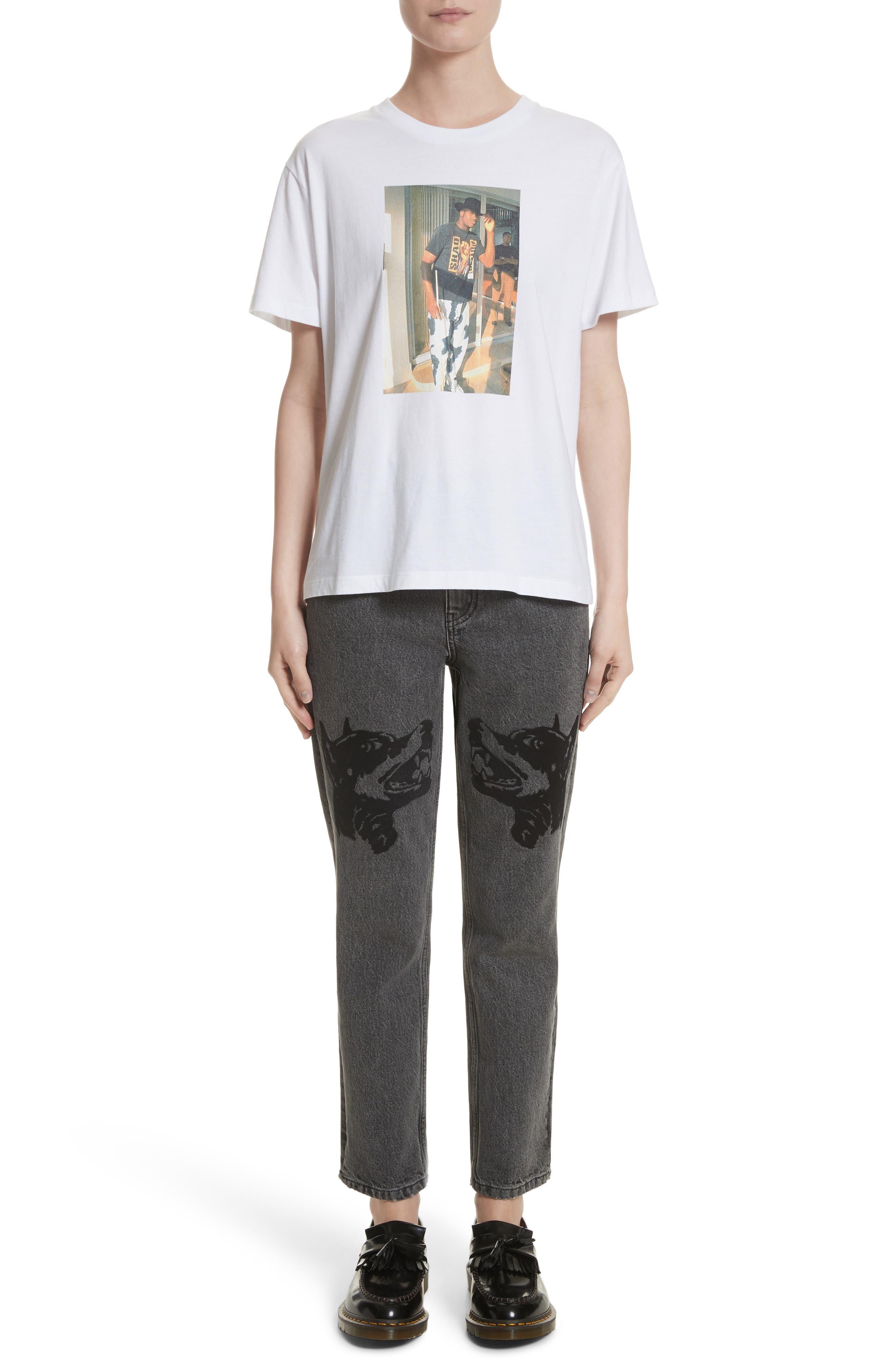 Alternate Image 10  - Ashley Williams Dog Embroidered Jeans (Grey)