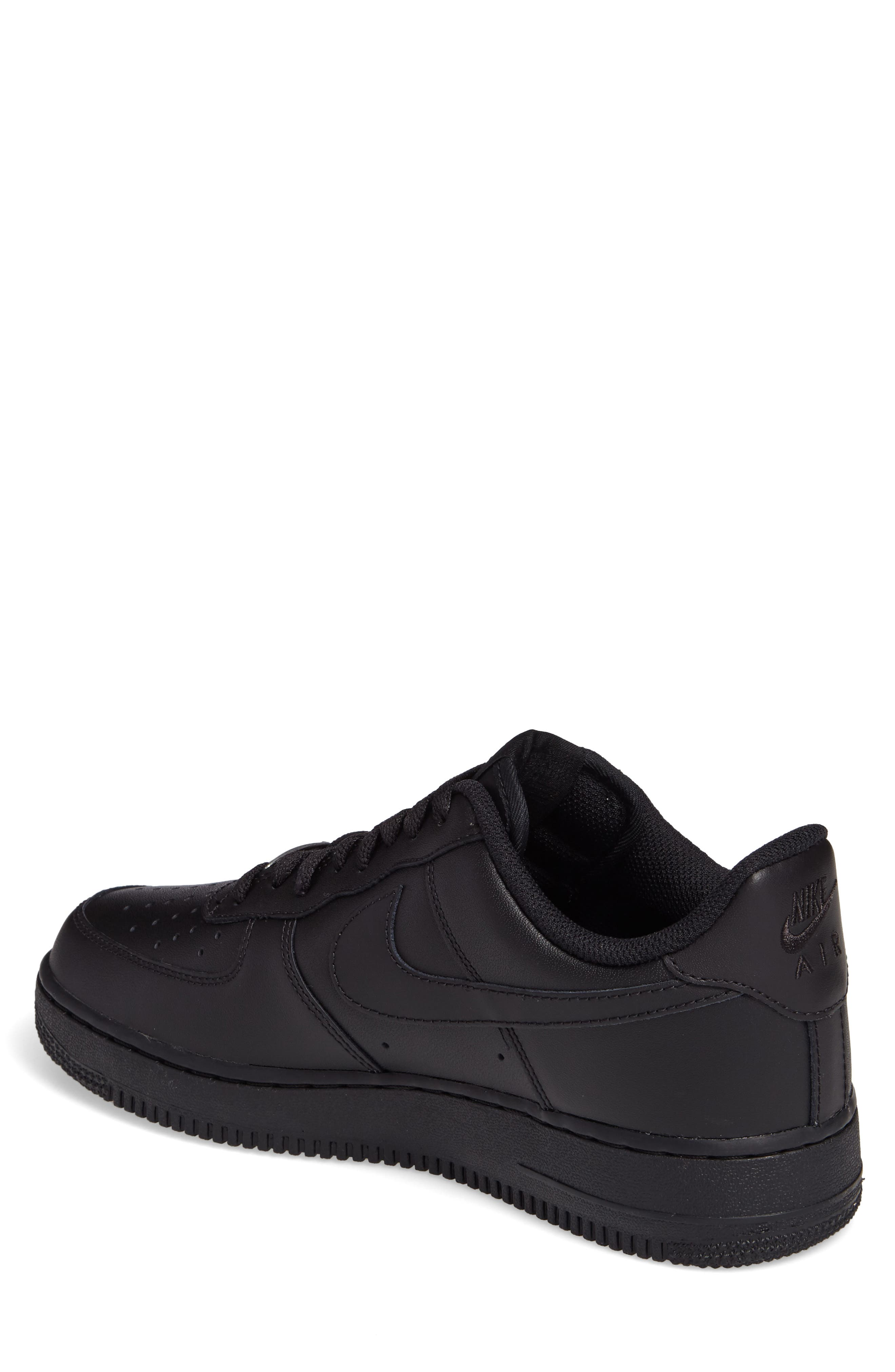Air Force 1 '07 Sneaker,                             Alternate thumbnail 2, color,                             Black/ Black