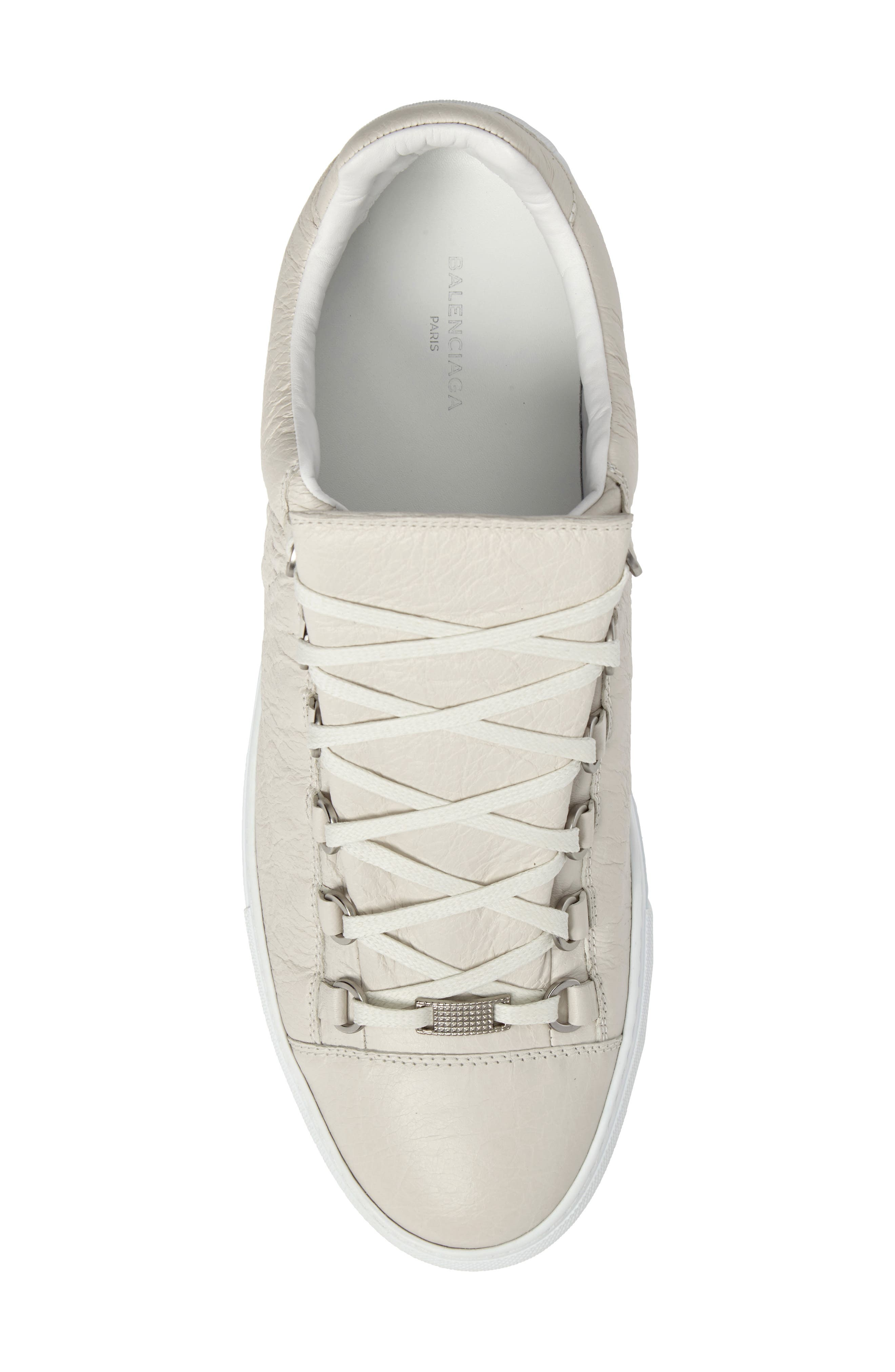 Arena Low Sneaker,                             Alternate thumbnail 5, color,                             Extra Blanc Leather