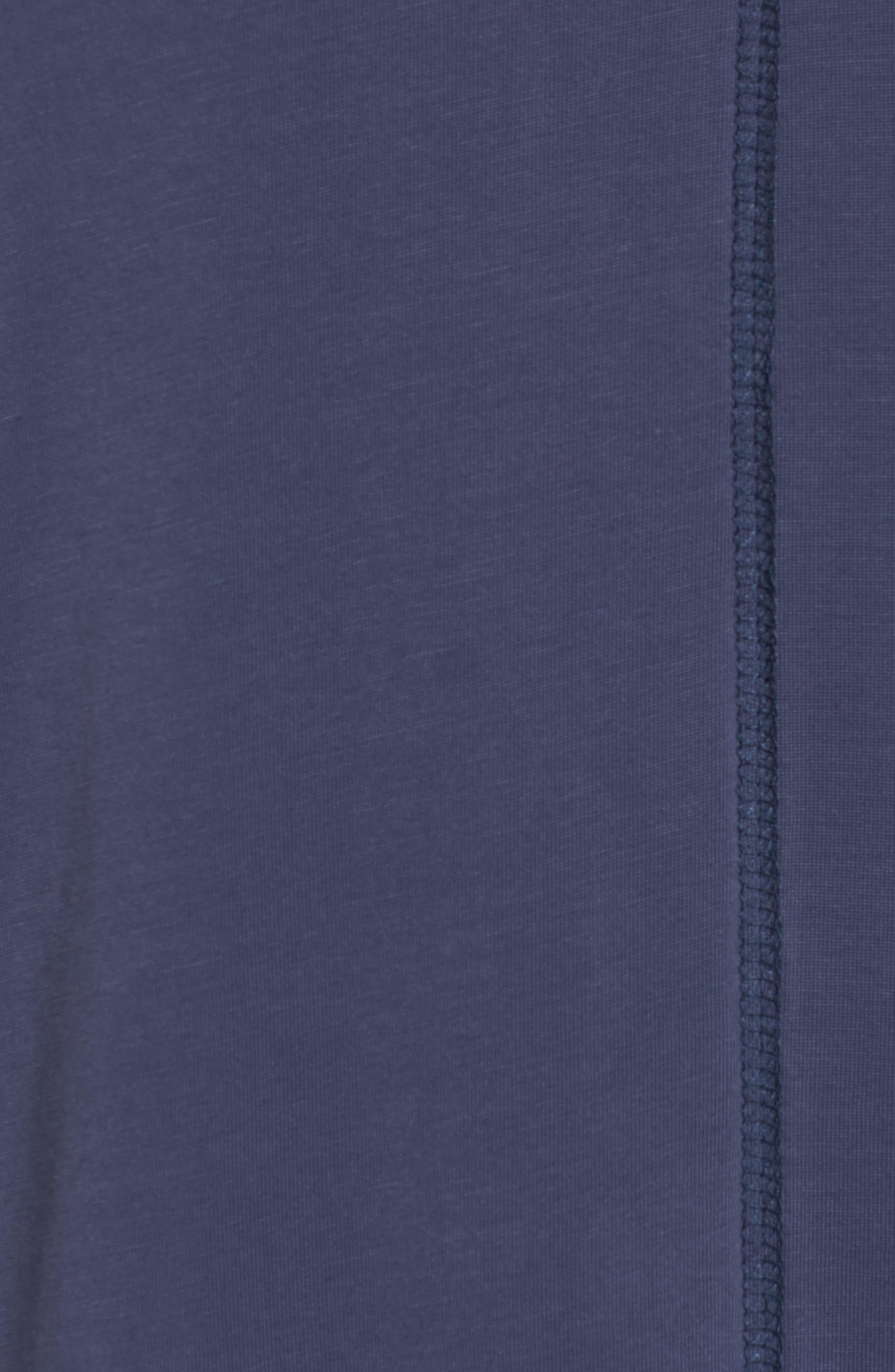Twisted Cold Shoulder Dress,                             Alternate thumbnail 5, color,                             Denim Navy