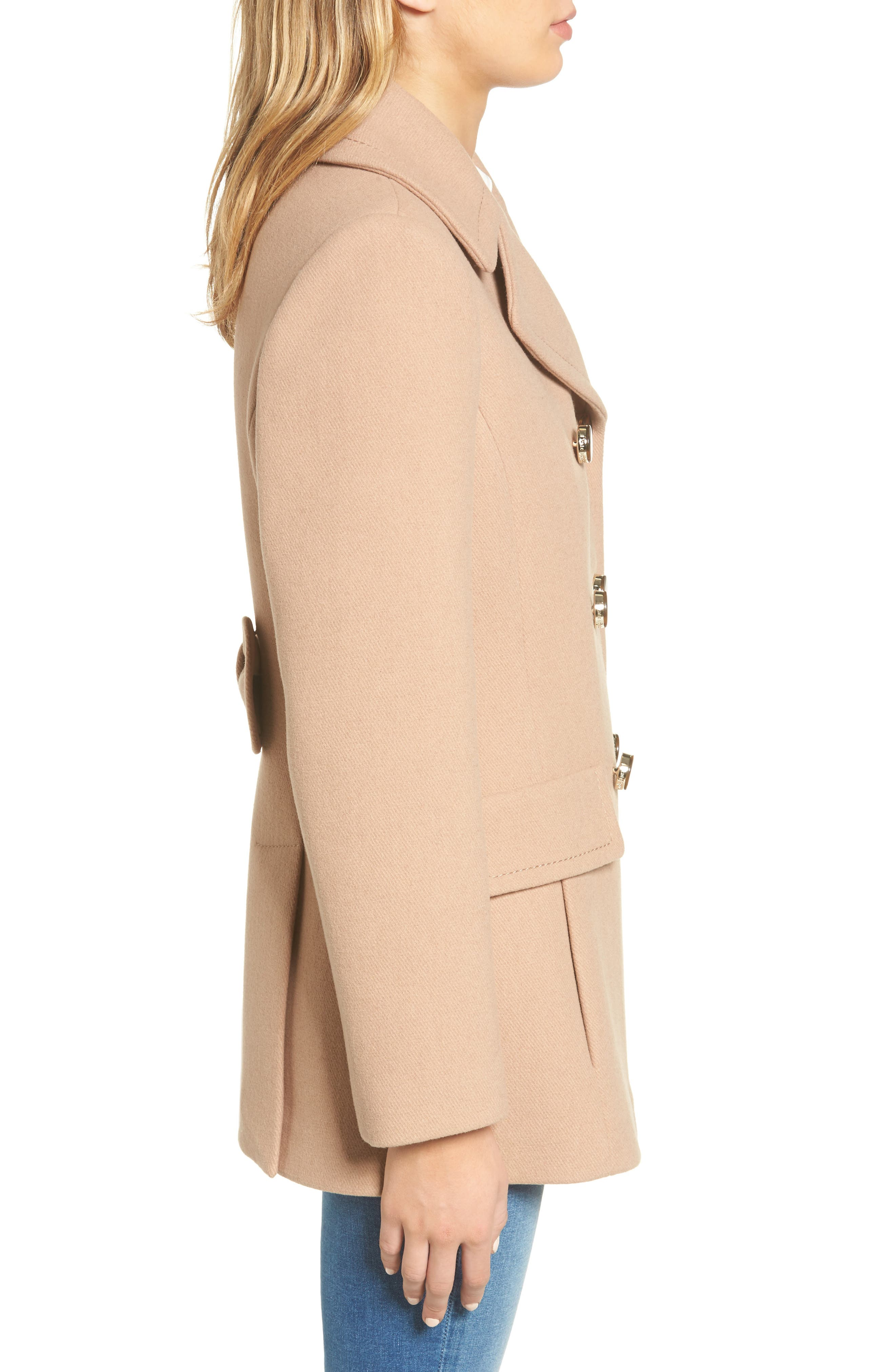 Alternate Image 3  - kate spade new york wool blend peacoat