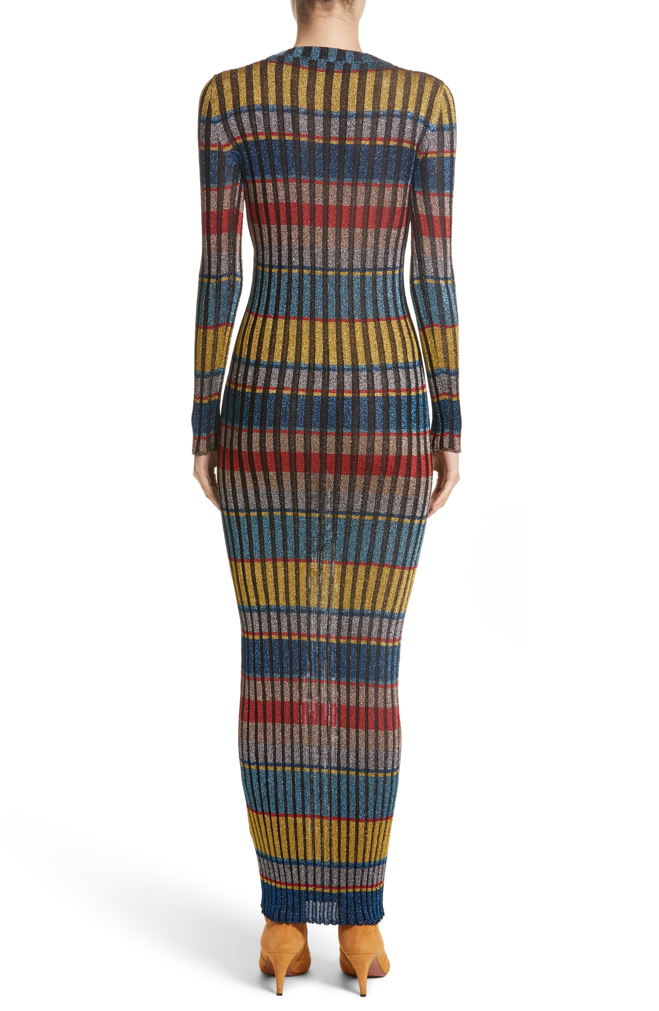 Alternate Image 2  - Missoni Metallic Stripe Knit Maxi Dress