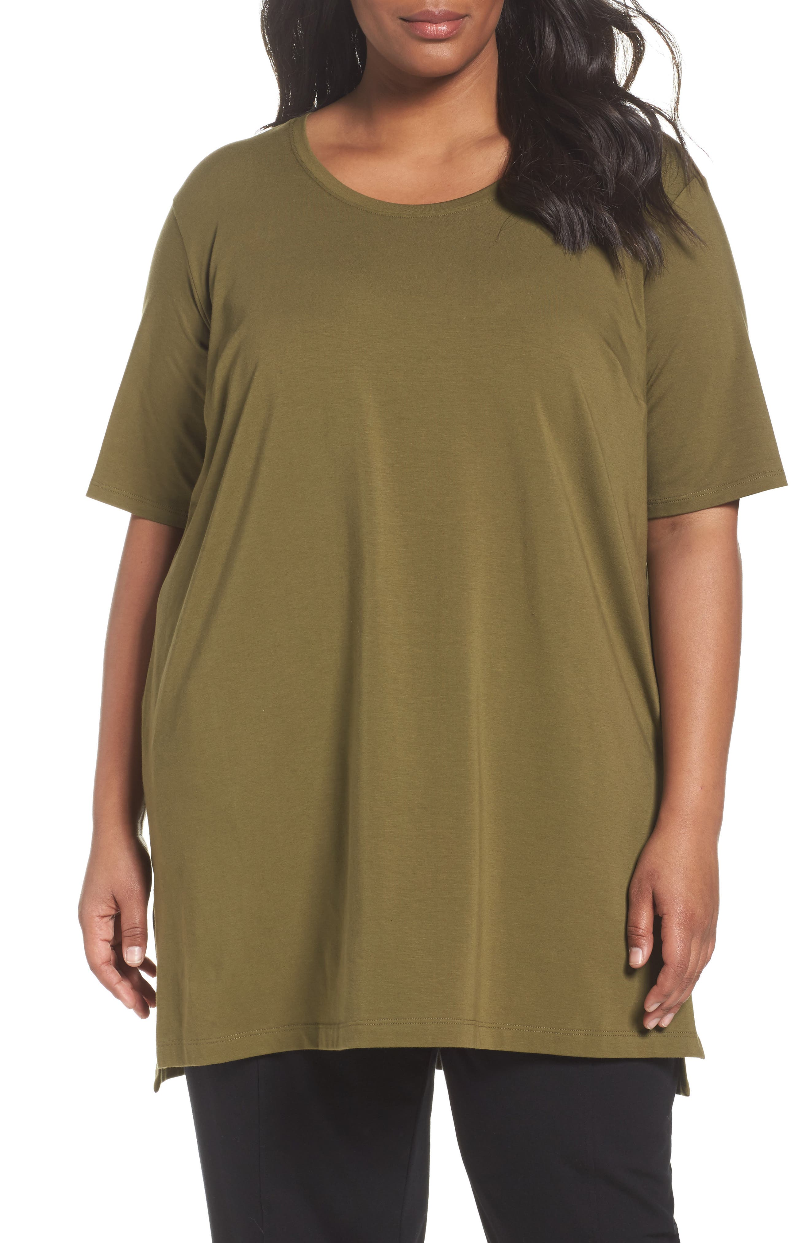 Eileen Fisher Stretch Organic Cotton Tunic (Plus Size)