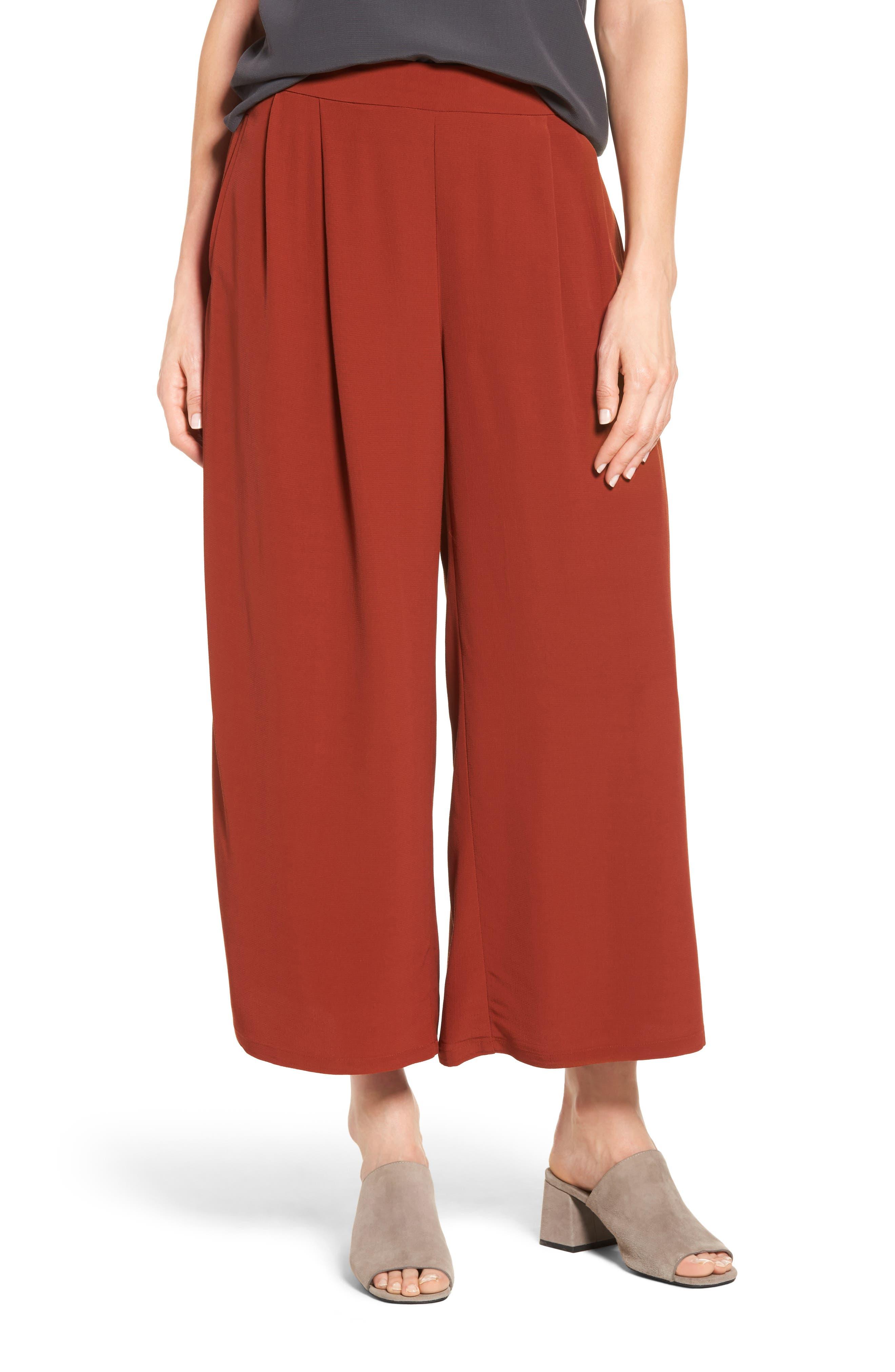 Alternate Image 1 Selected - Eileen Fisher Wide Leg Pants (Regular & Petite)