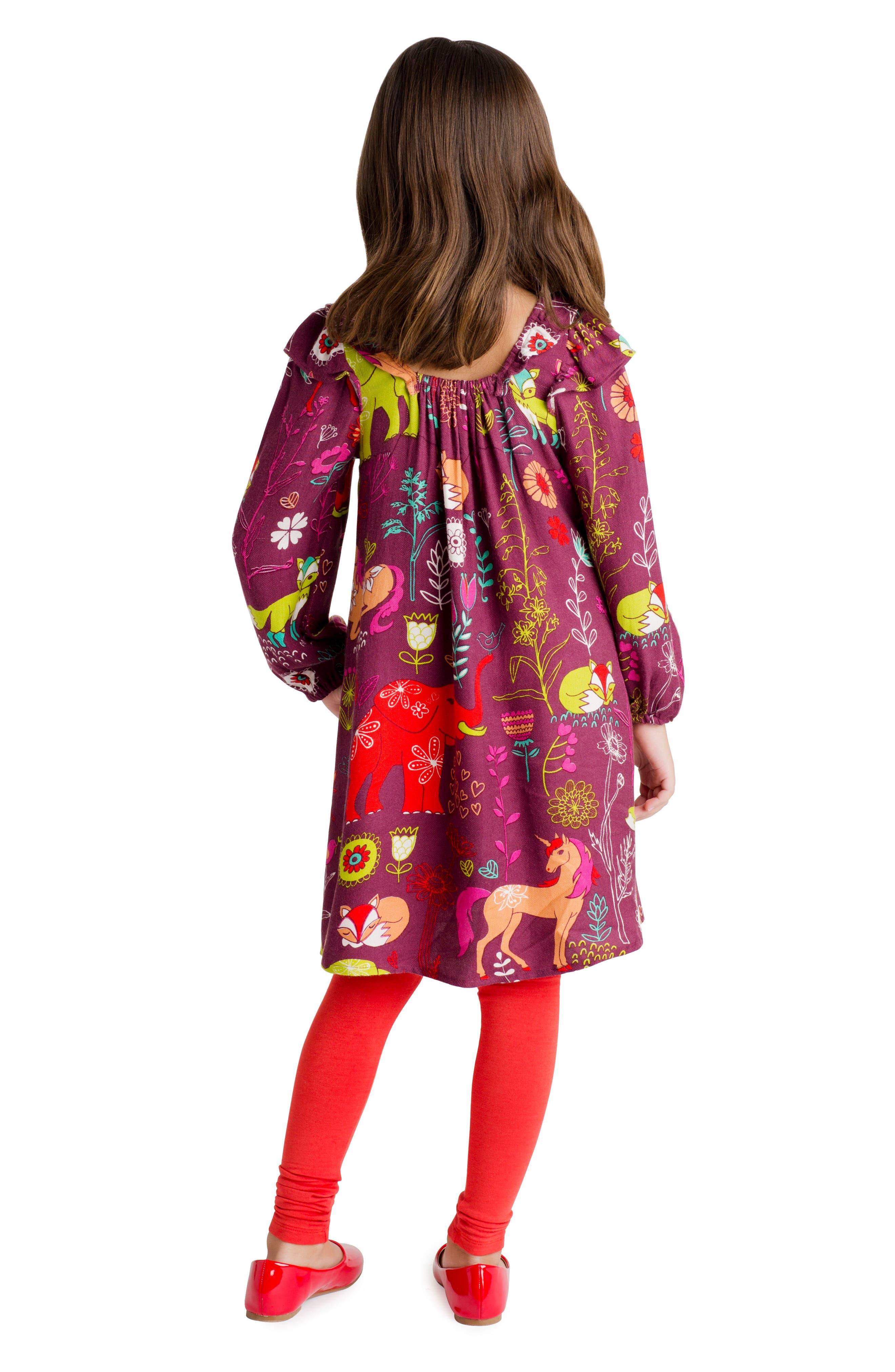 Alternate Image 3  - Masalababy Magic Forest Print Dress (Toddler Girls, Little Girls & Big Girls)