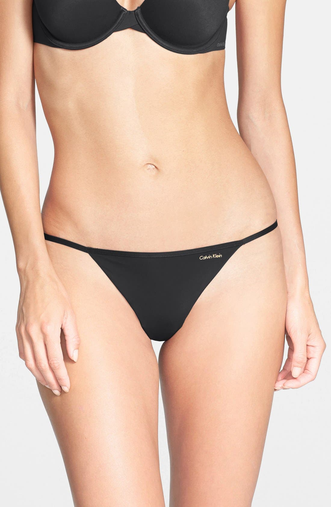 Main Image - Calvin Klein Sleek G-String Thong (3 for $33)