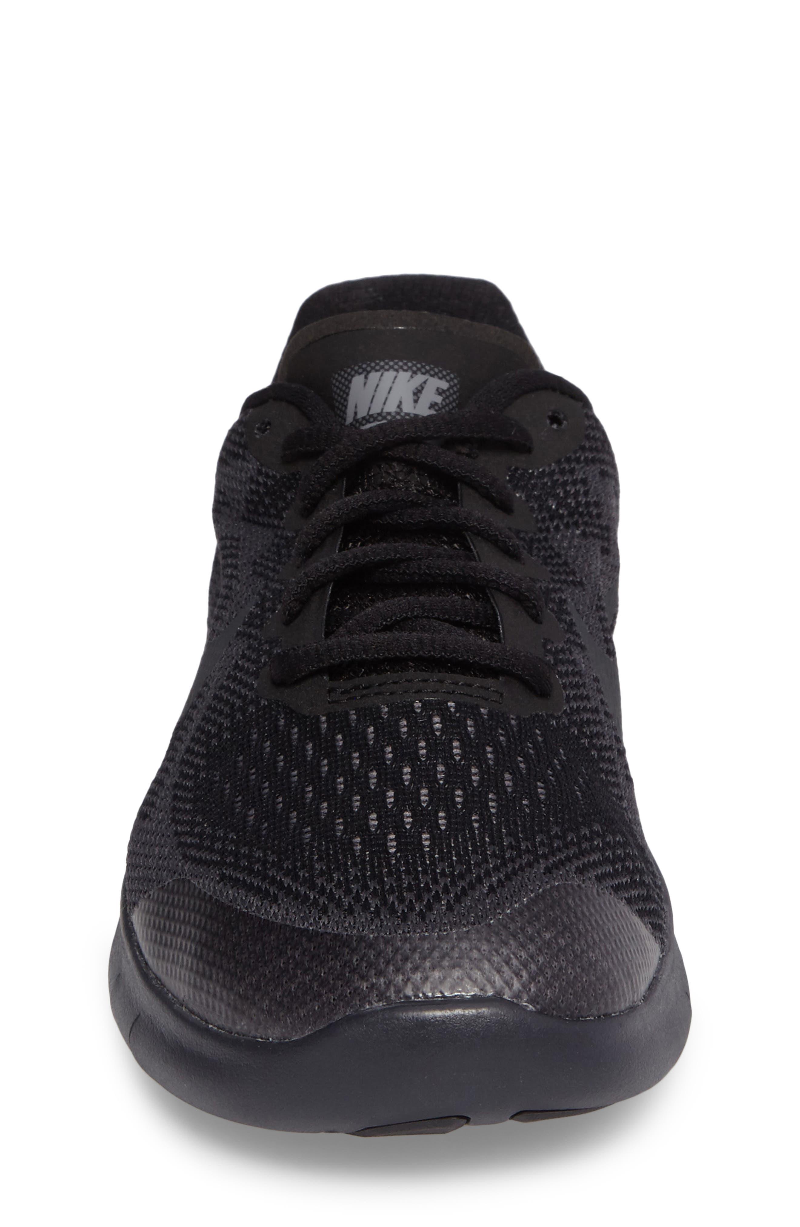 Free RN Running Shoe,                             Alternate thumbnail 4, color,                             Black/ Anthracite/ Dark Grey