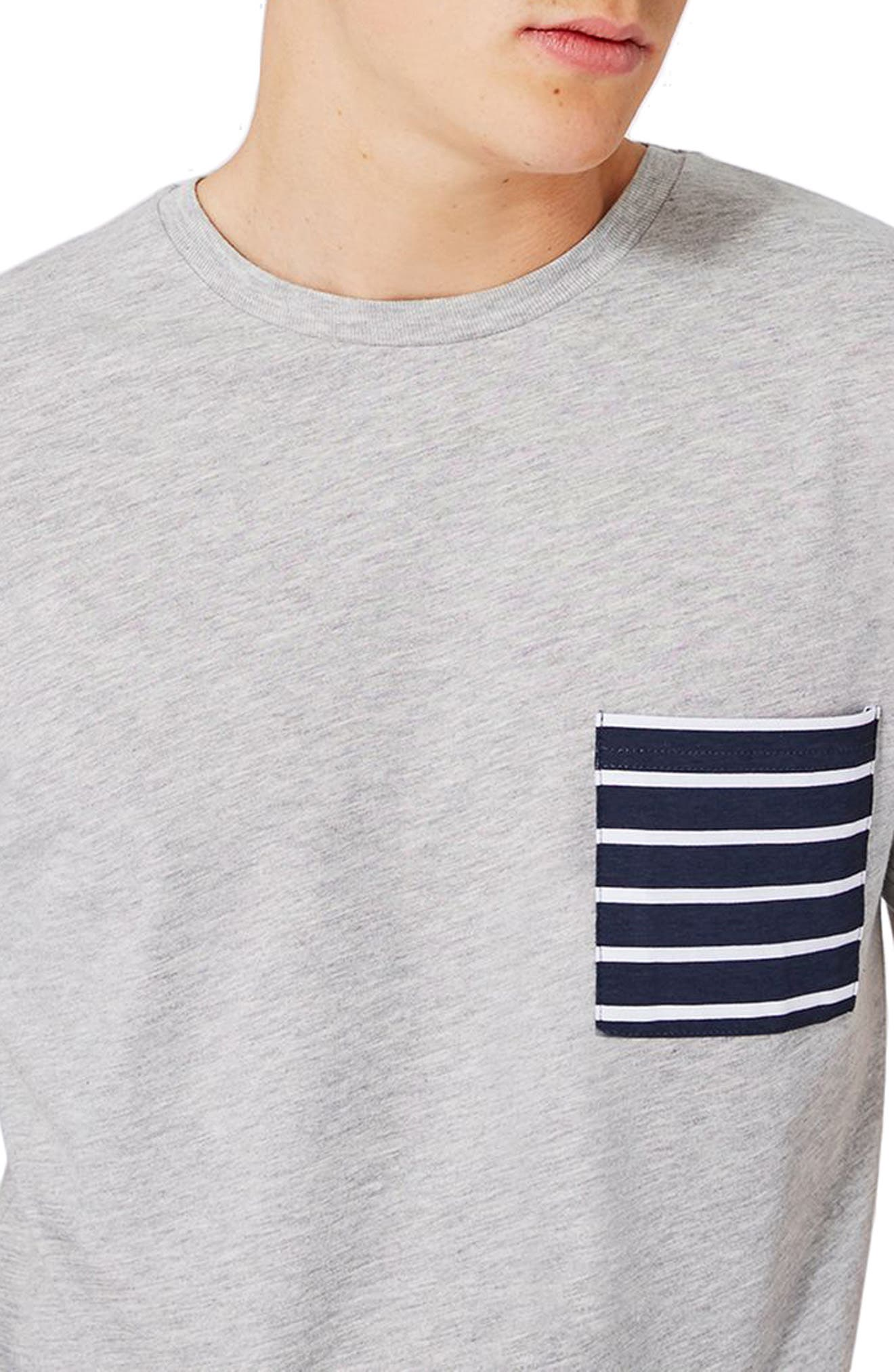 Alternate Image 4  - Topman Stripe Pocket T-Shirt