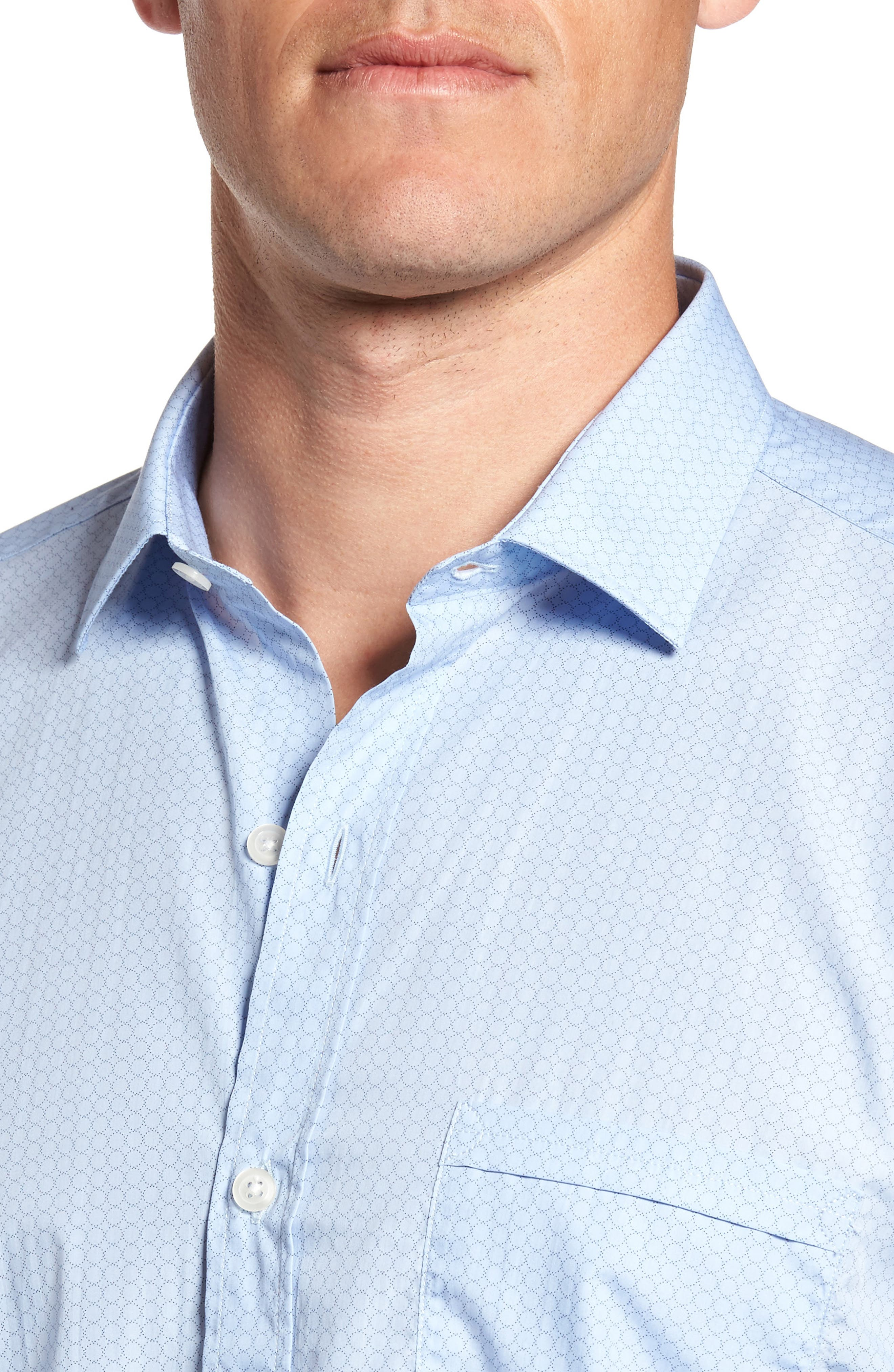 Alternate Image 4  - Culturata Trim Fit Heritage Print Sport Shirt
