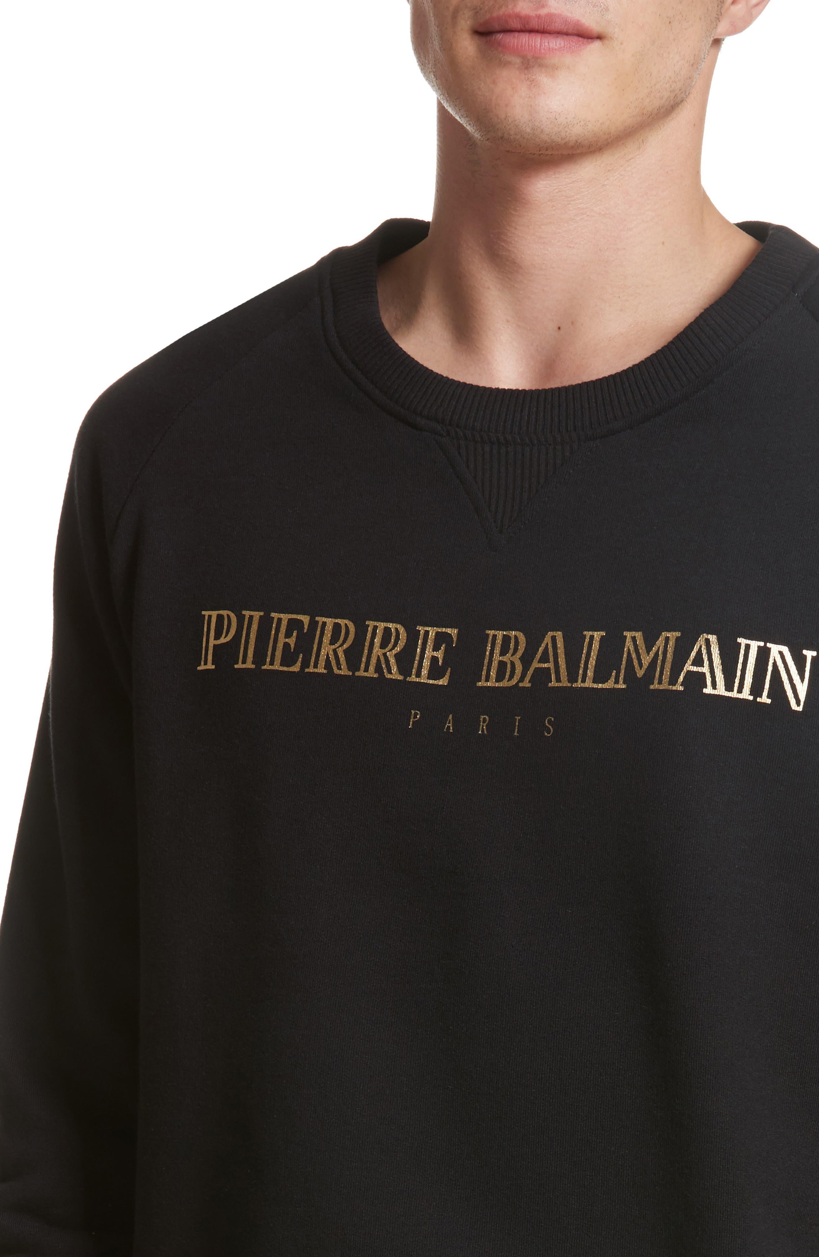Alternate Image 4  - Pierre Balmain Logo Graphic Sweatshirt