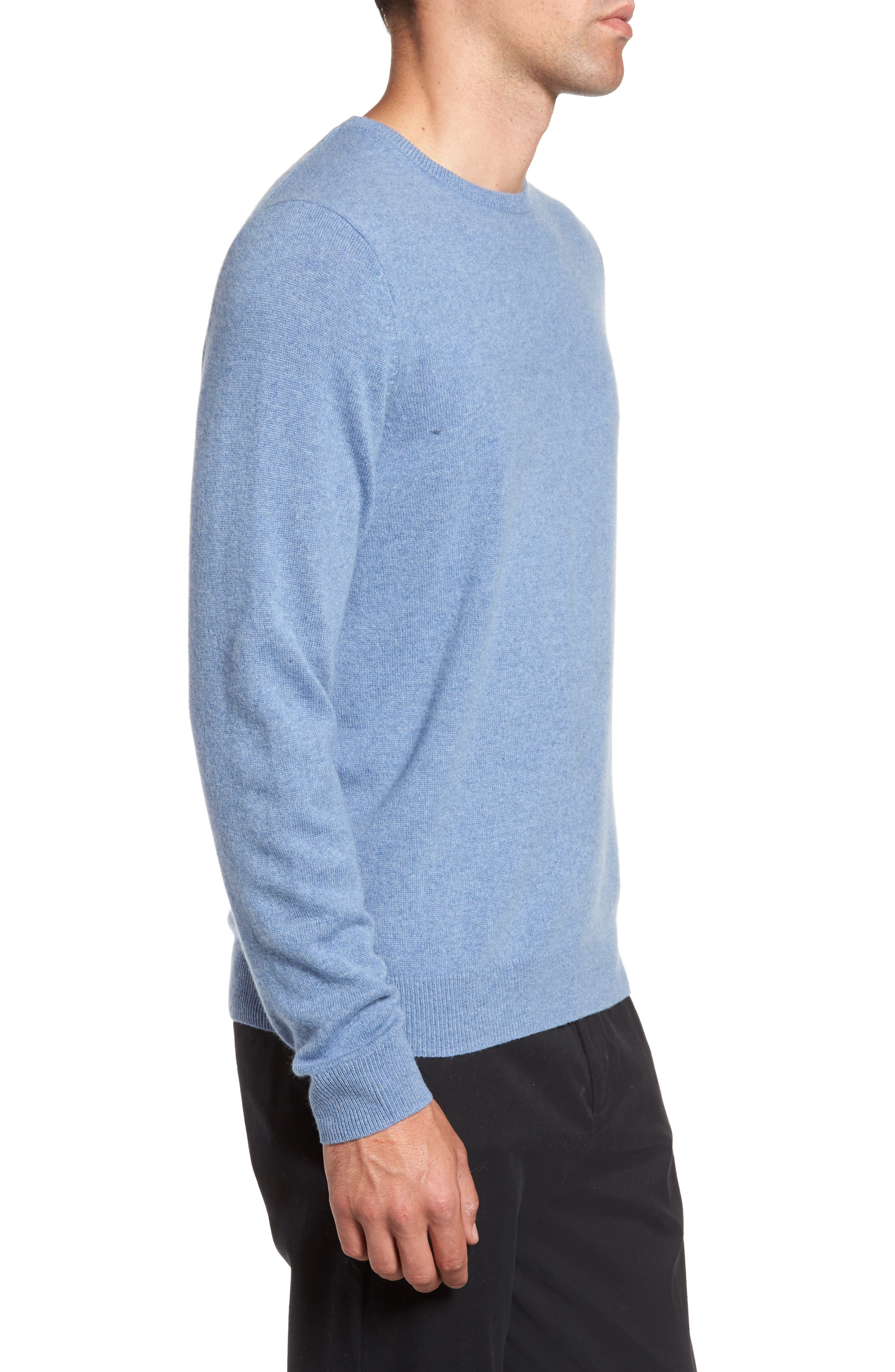 Alternate Image 3  - Nordstrom Men's Shop Cashmere Crewneck Sweater (Regular & Tall)