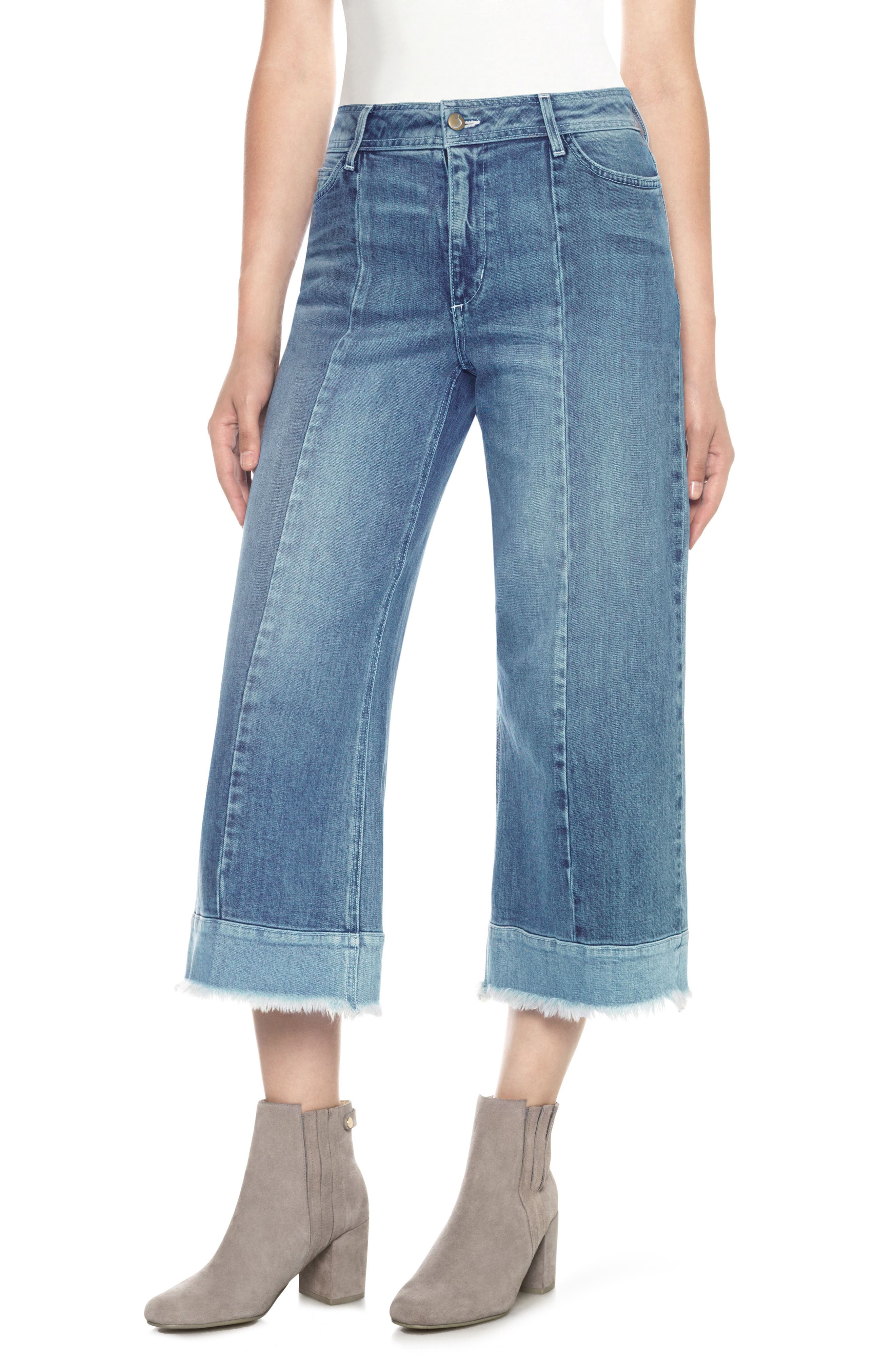 Joe's Cheryl High Waist Crop Wide Leg Jeans (Christy)