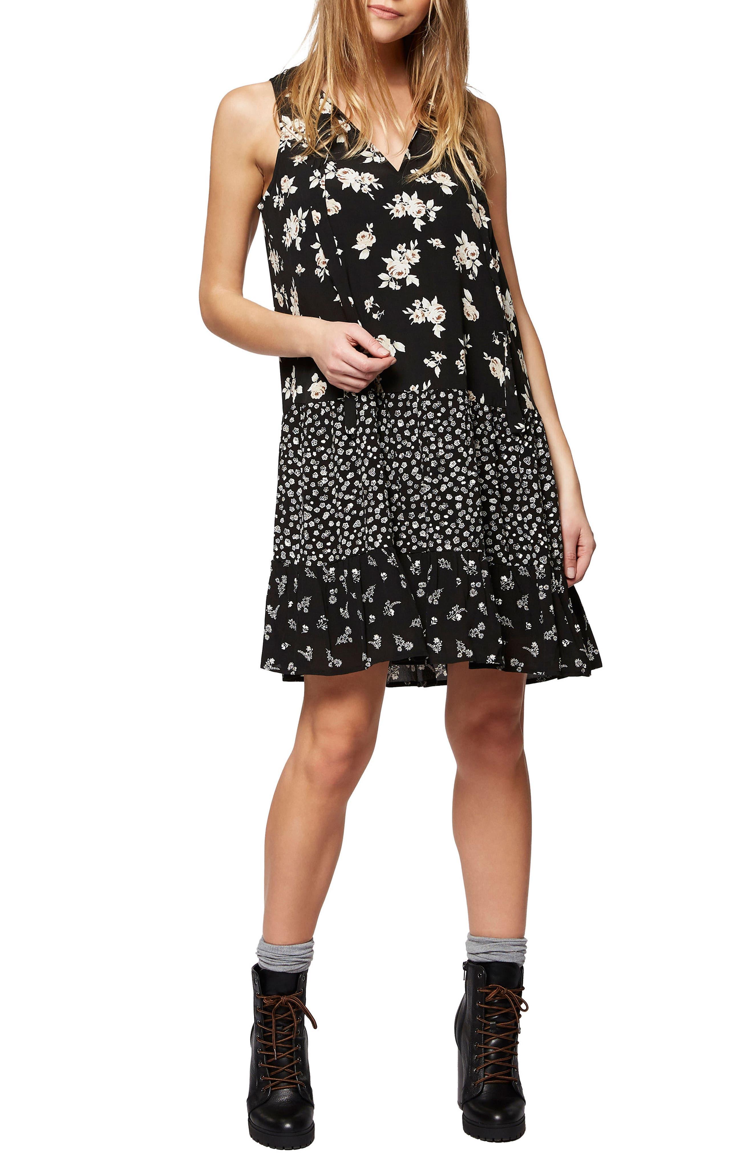 SANCTUARY Alina Floral A-Line Dress