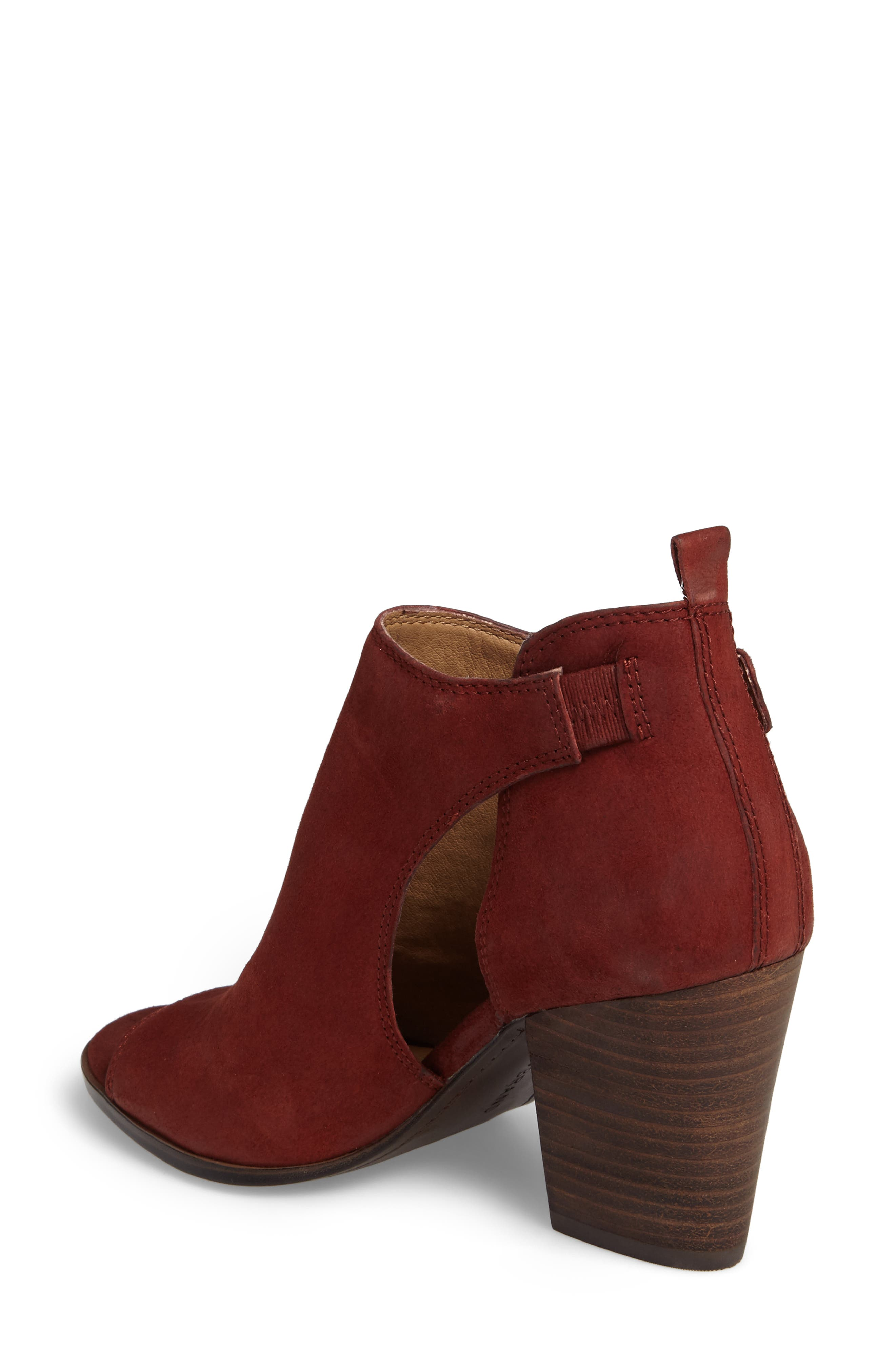Oona Open Side Bootie,                             Alternate thumbnail 2, color,                             Sable Leather