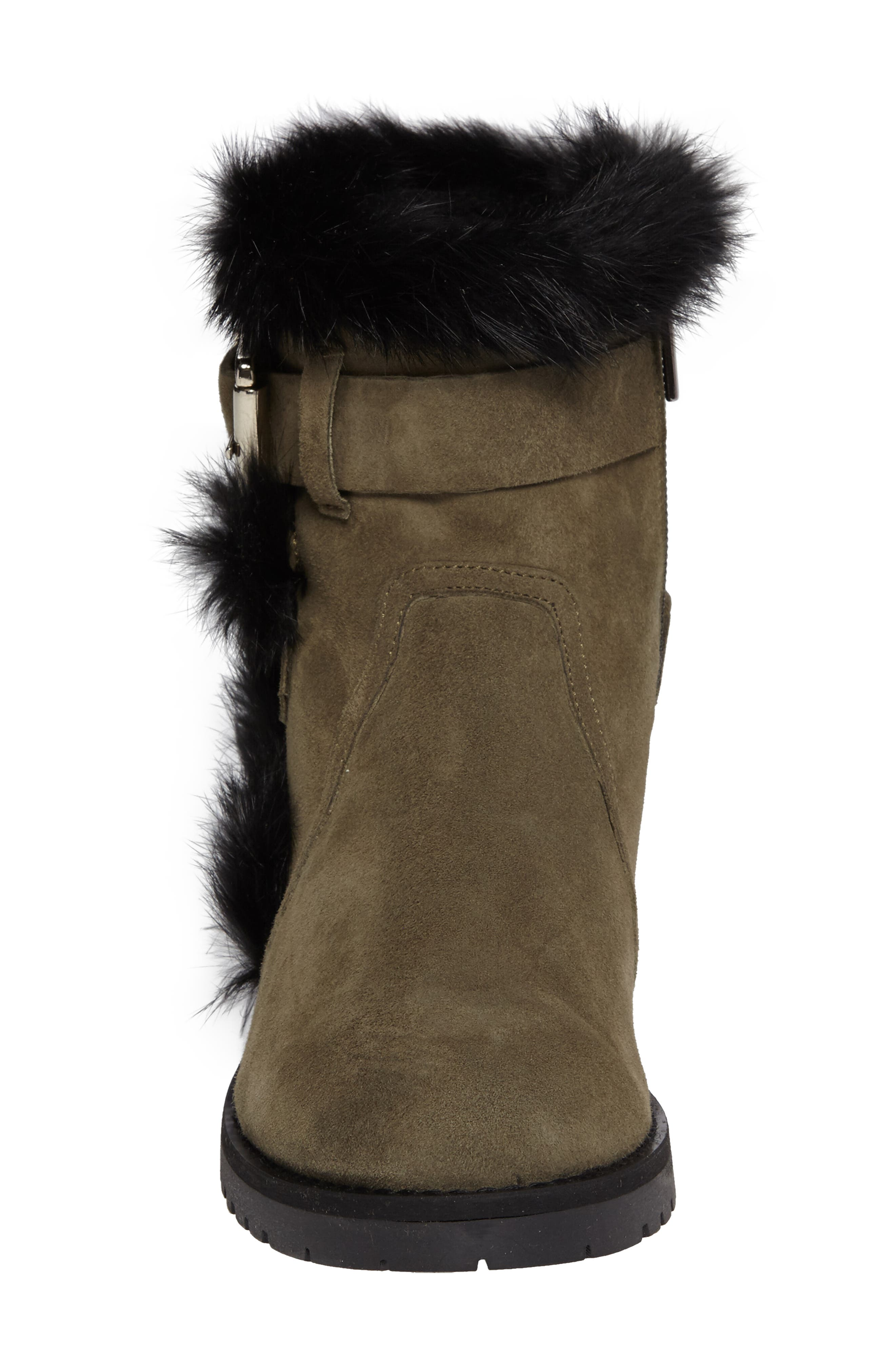 Alternate Image 4  - Charles David Rustic Genuine Rabbit Fur Cuff Boot (Women)