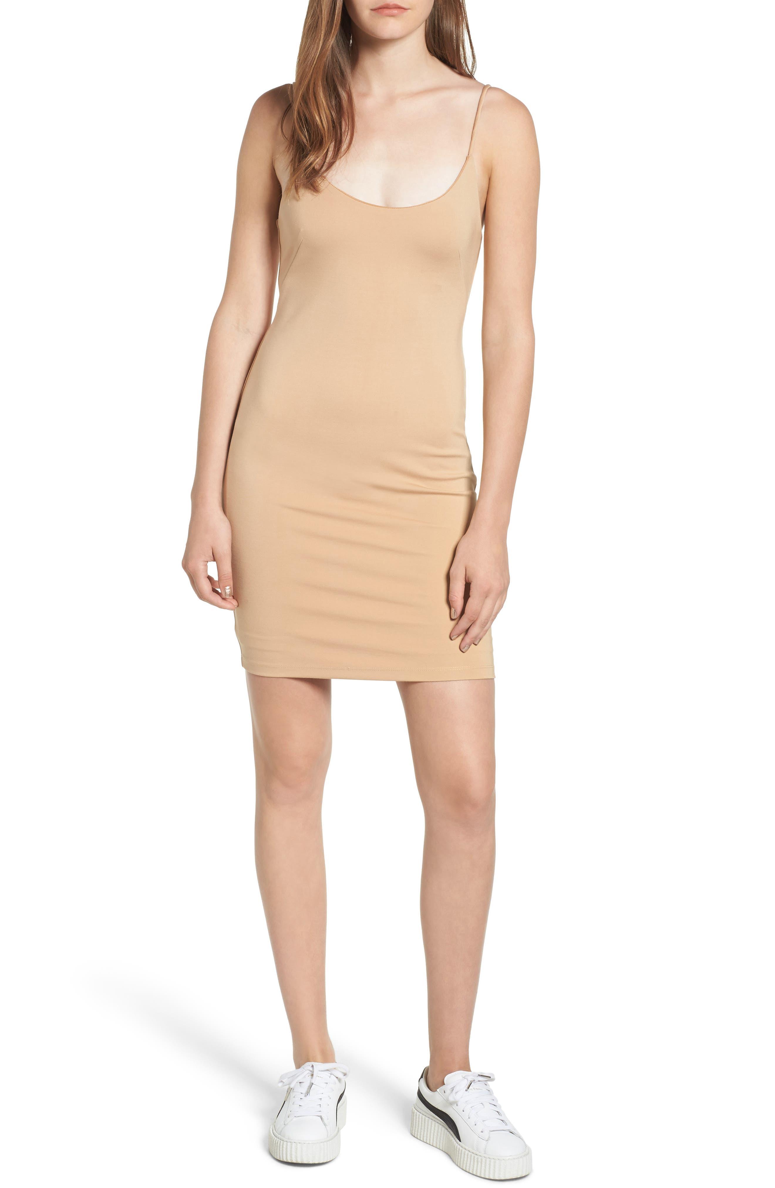 Brooklyn Body-Con Dress,                         Main,                         color, Nude