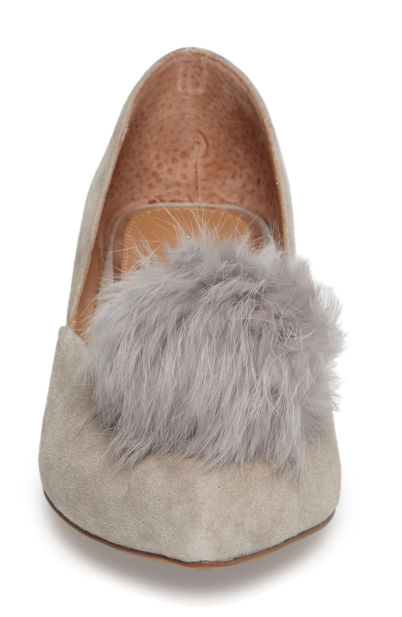 Alternate Image 4  - Linea Paolo Camille Pump with Genuine Rabbit Fur Pom (Women)