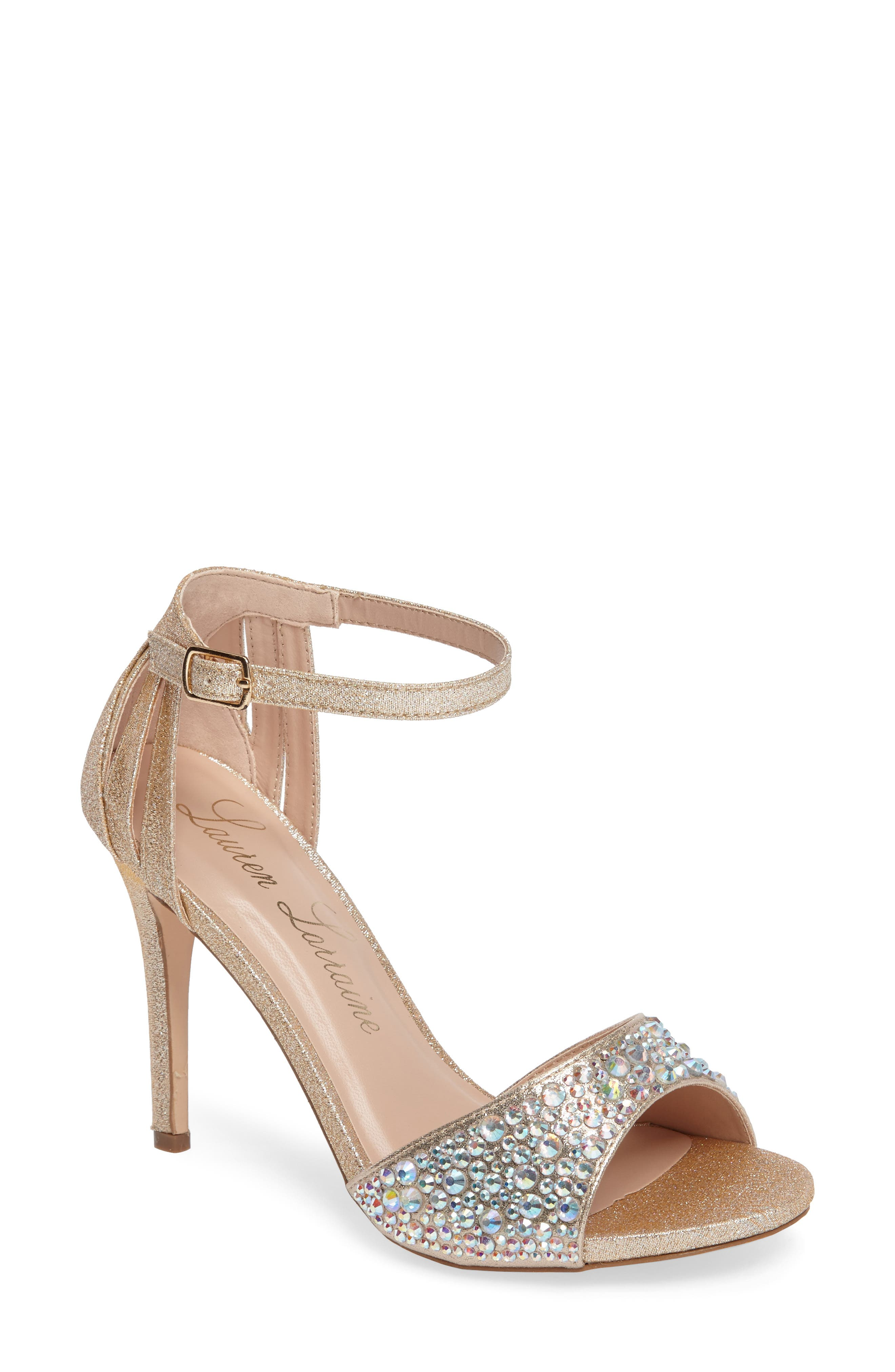 Maddy Embellished Sandal,                             Main thumbnail 1, color,                             Nude