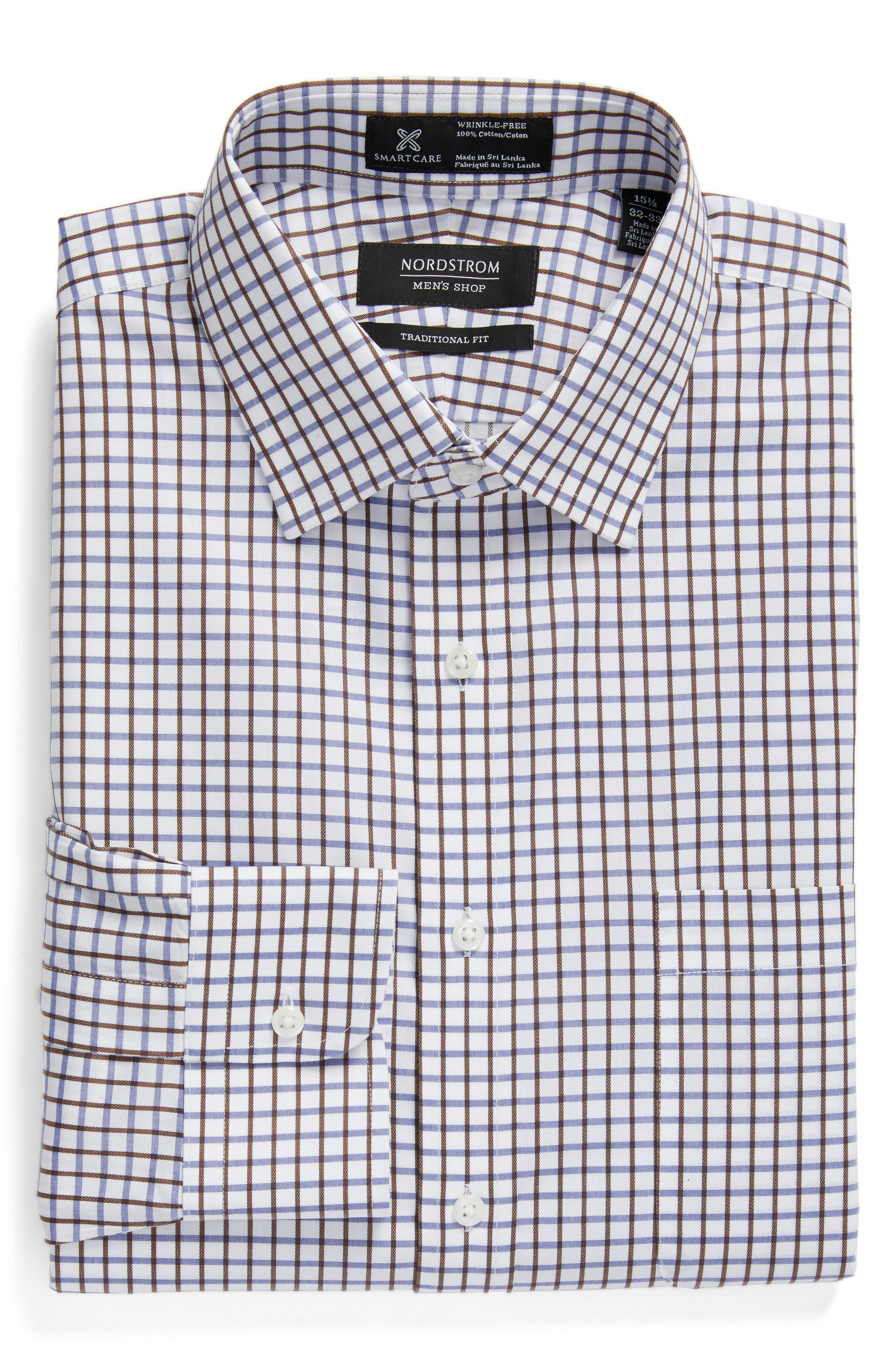 Nordsrom Men's Shop Smartcare™ Traditional Fit Check Dress Shirt