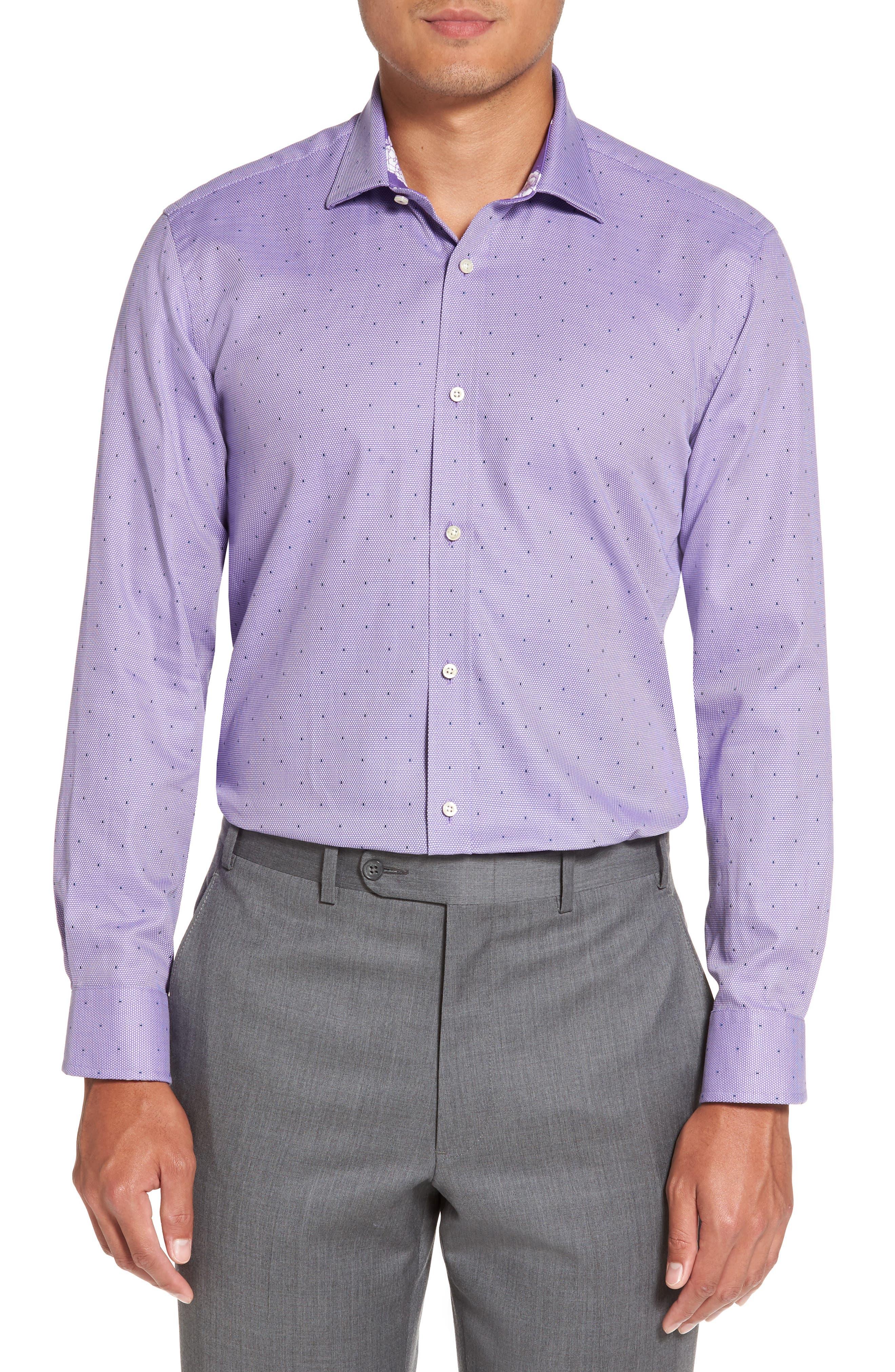 Alternate Image 2  - Ted Baker London Trim Fit Dot Dress Shirt
