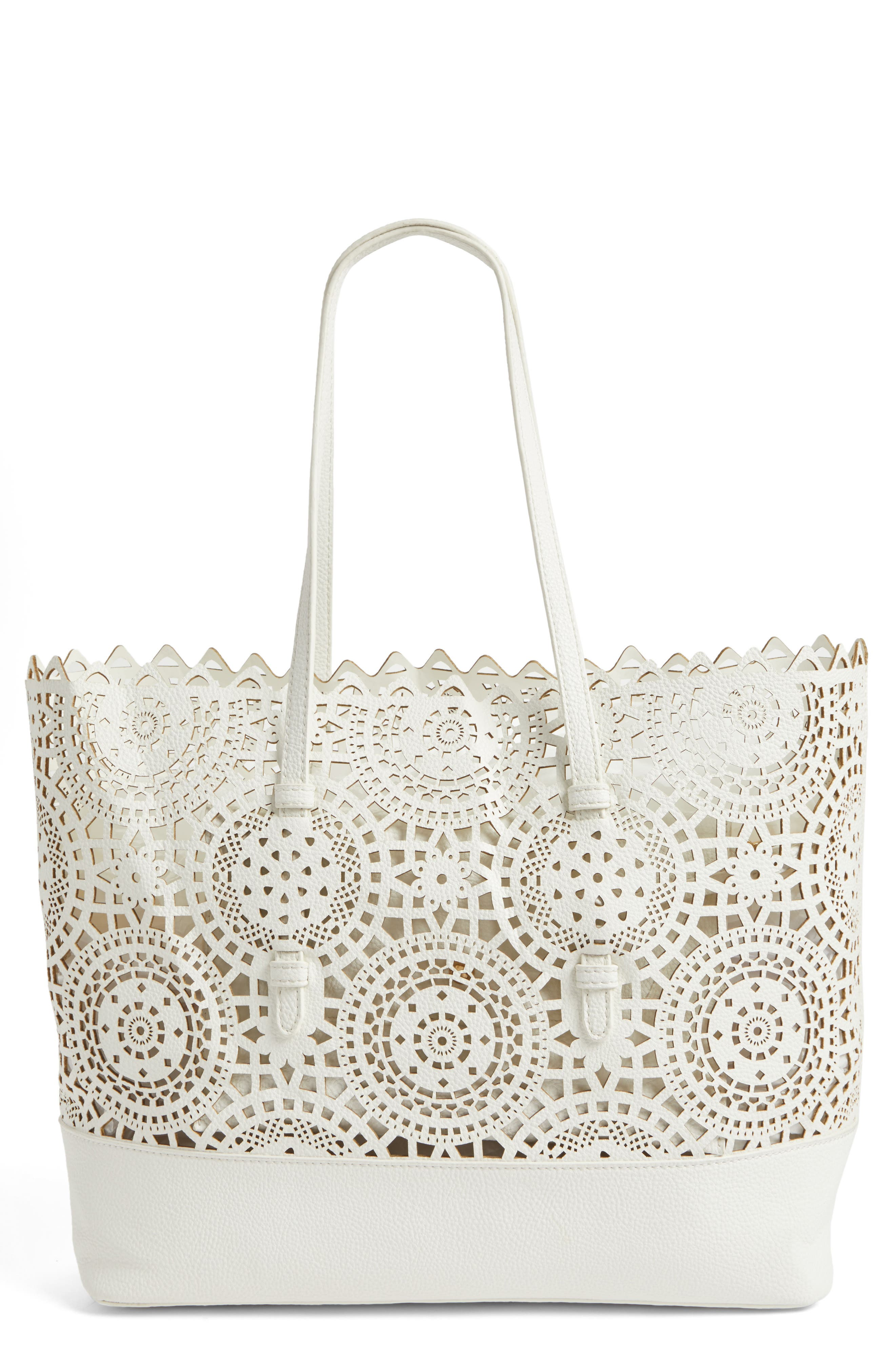 Shiraleah Helena Perforated Faux Leather Tote