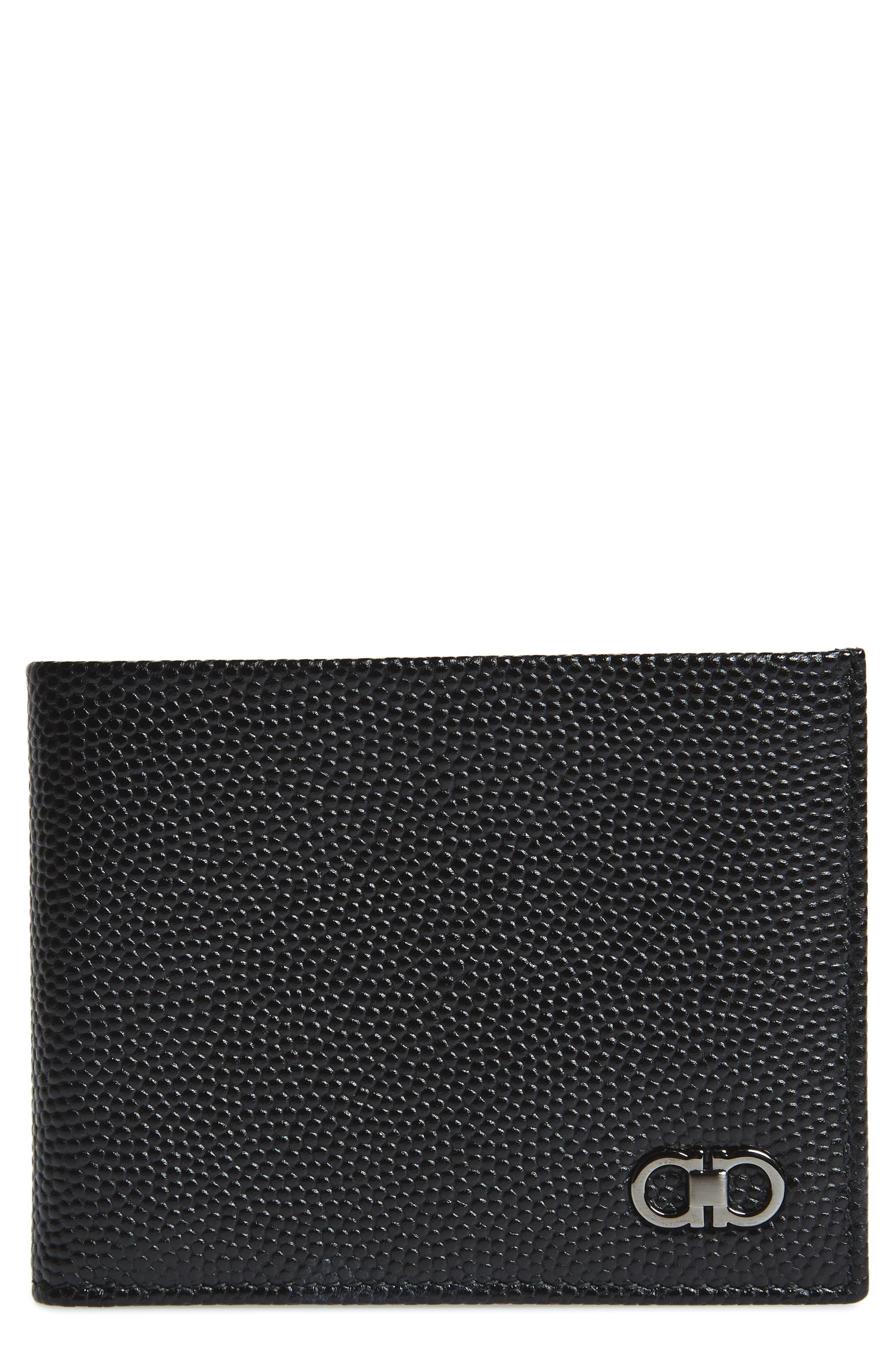 Salvatore Ferragamo Bifold Textured Leather Wallet