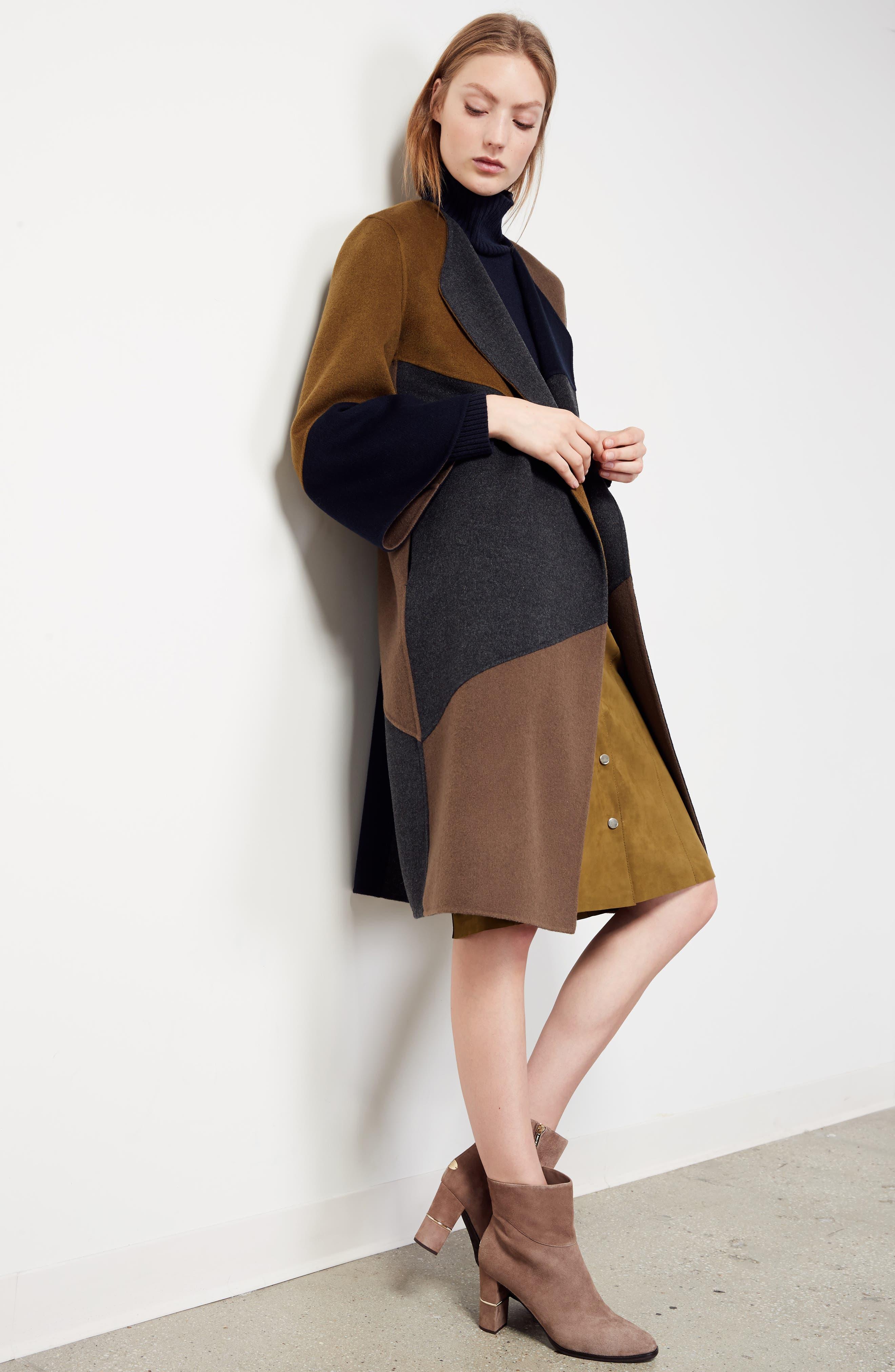 Orla Leather Skirt,                             Alternate thumbnail 9, color,                             Kelp