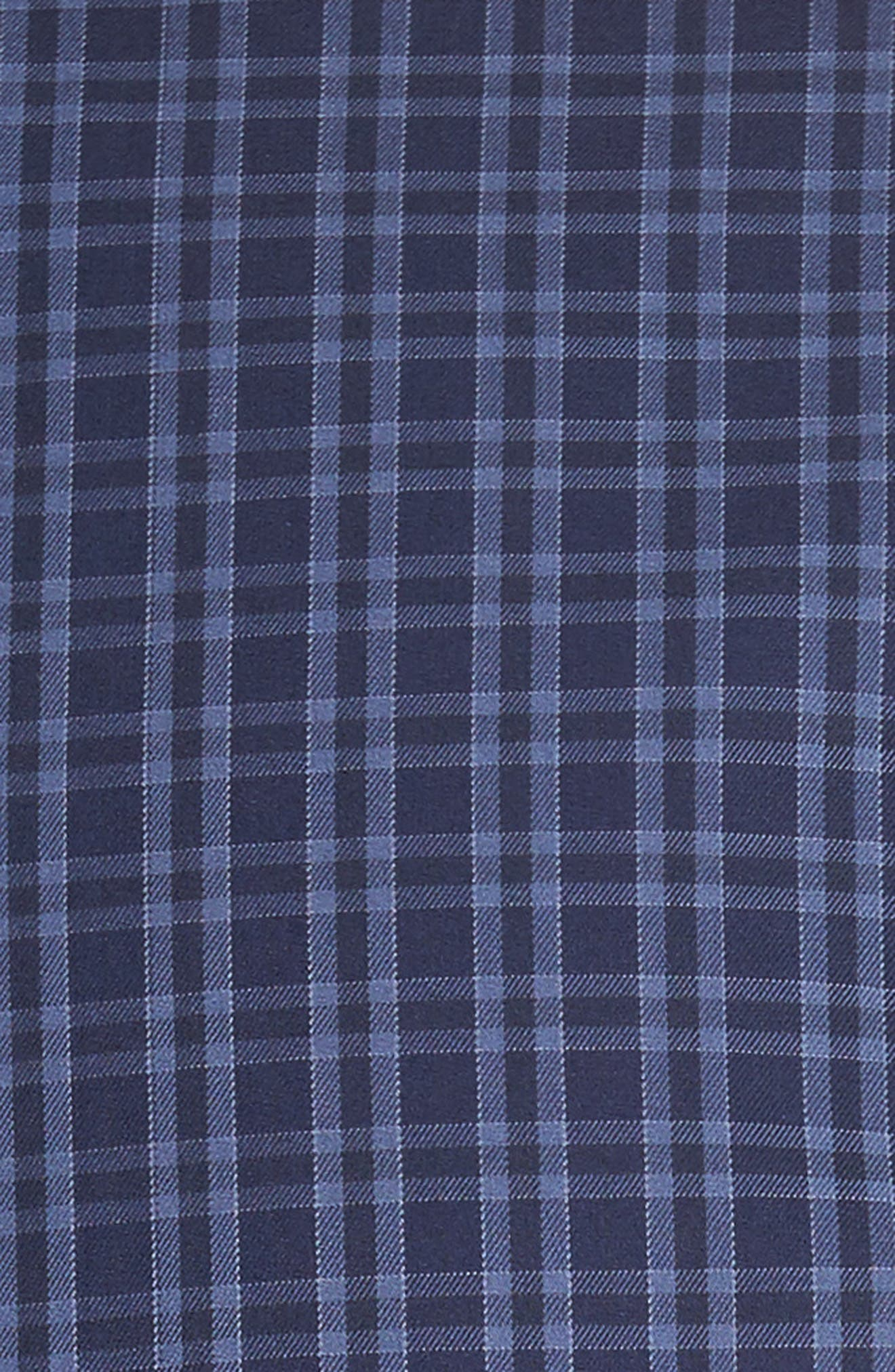 Autumn Check Regular Fit Sport Shirt,                             Alternate thumbnail 5, color,                             Seaboard Navy