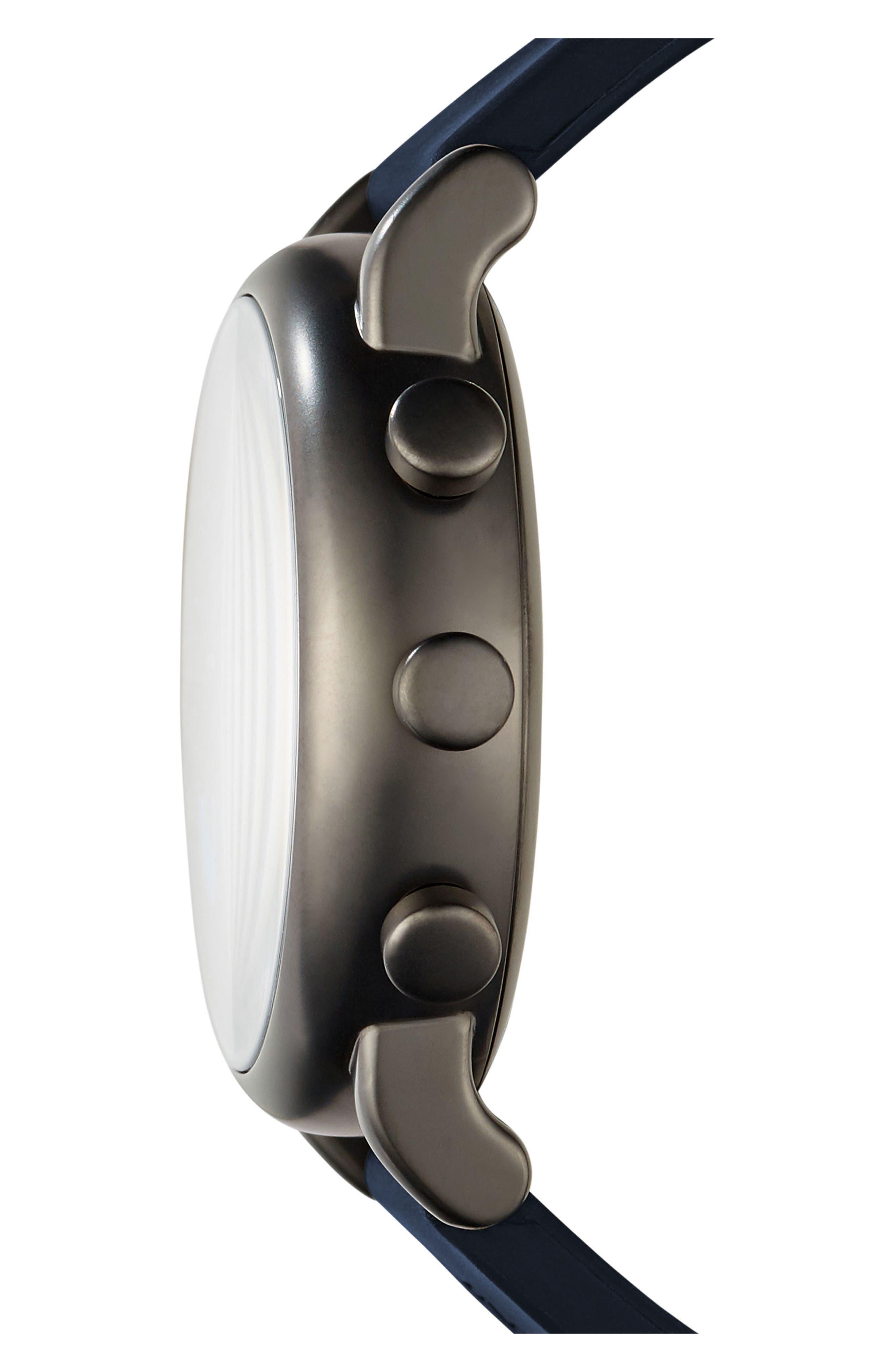 Alternate Image 3  - Emporio Armani Silicone Strap Hybrid Smartwatch, 43mm