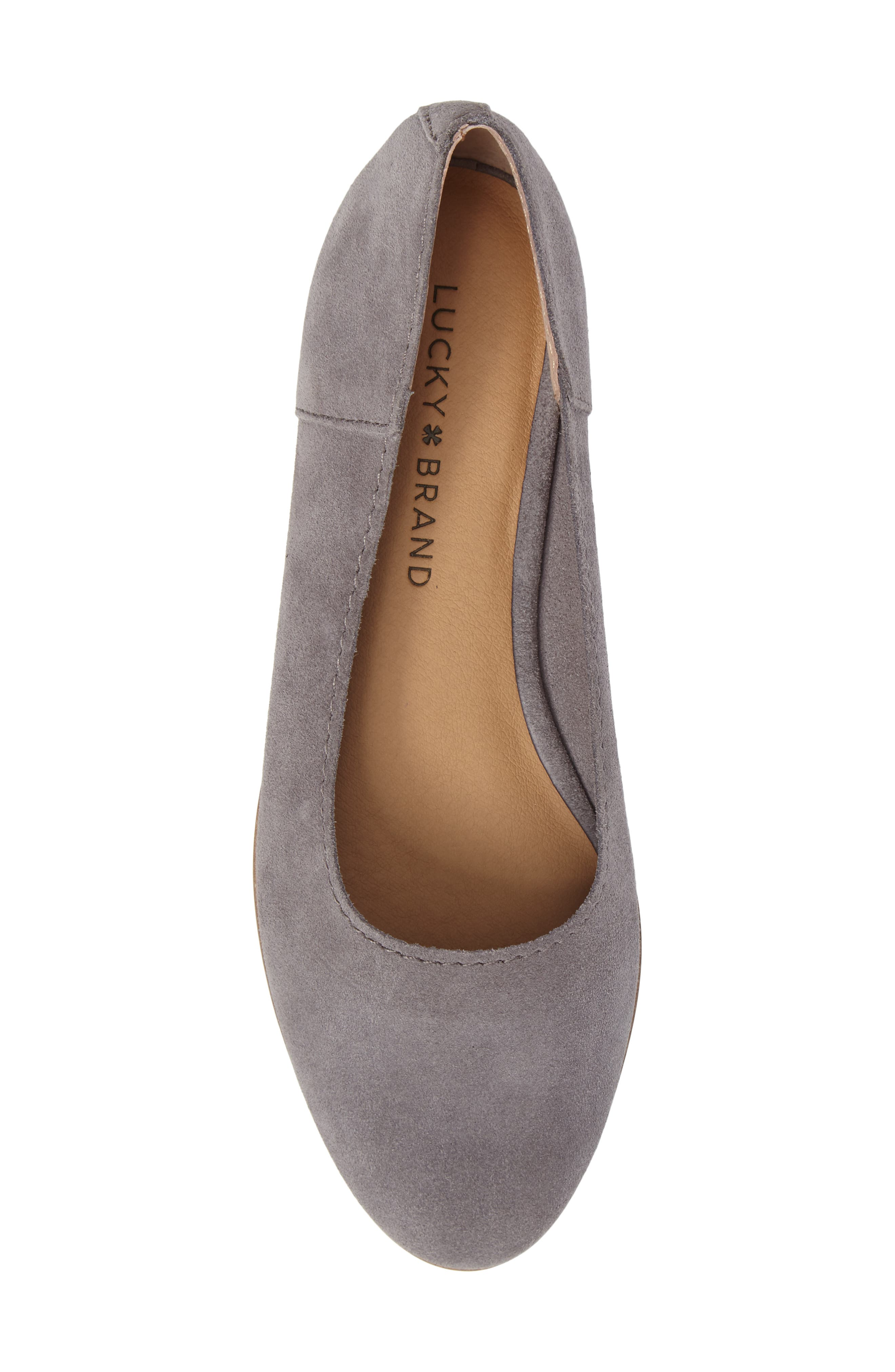 Calandra Flat,                             Alternate thumbnail 5, color,                             Steel Grey Suede