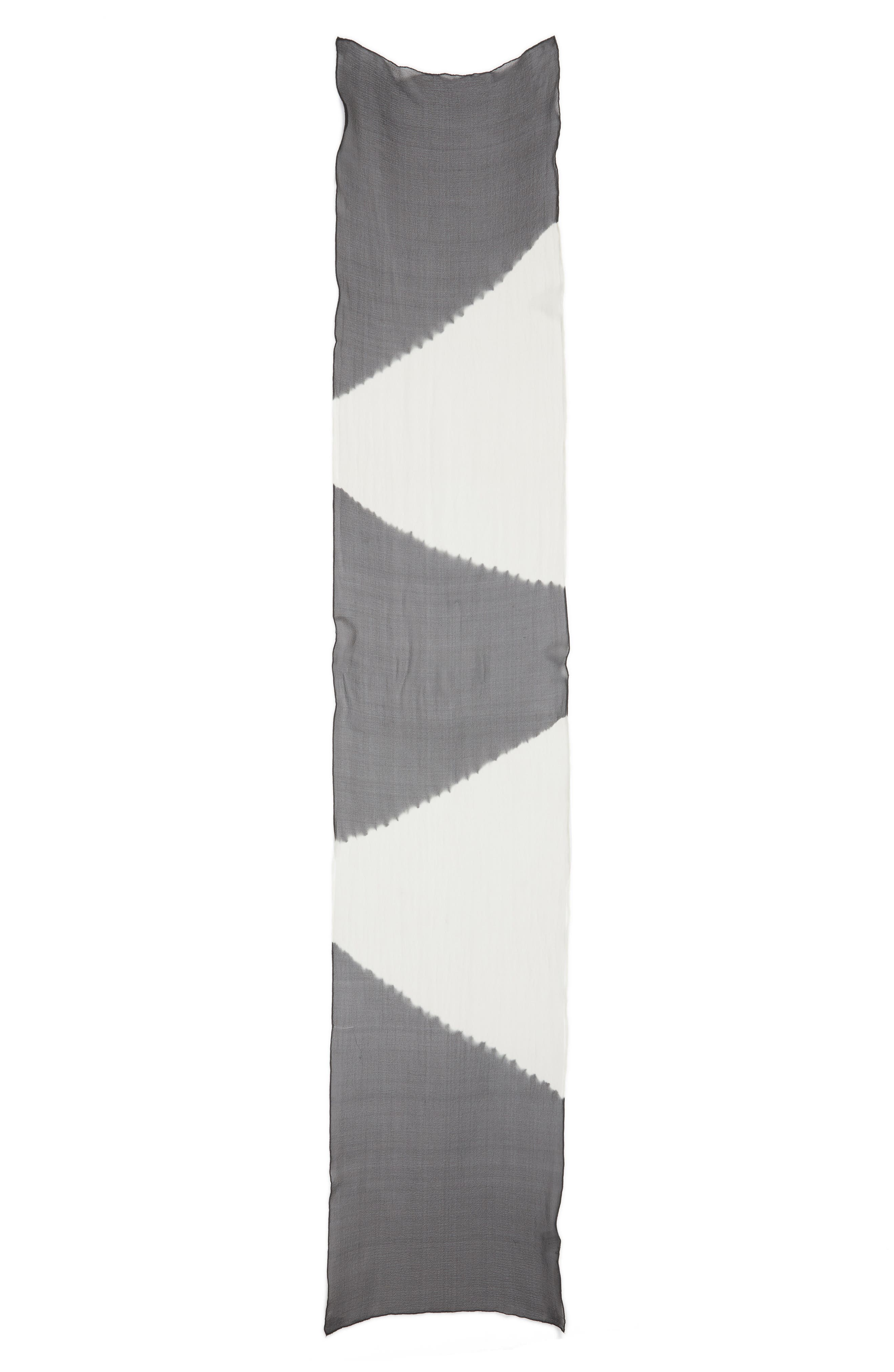 Alternate Image 3  - Eileen Fisher Colorblock Silk Scarf