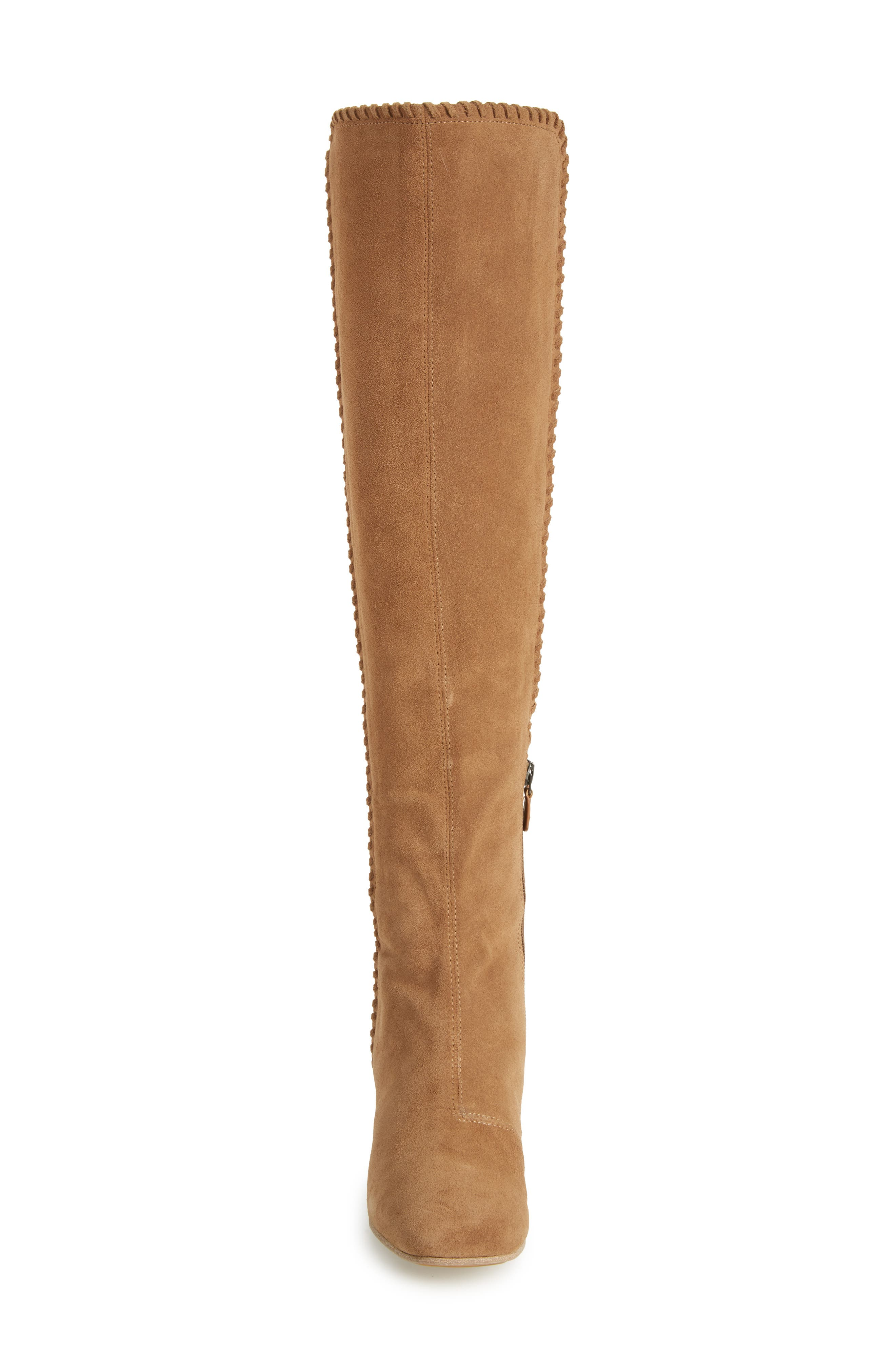 Emery Over the Knee Boot,                             Alternate thumbnail 4, color,                             Camel Suede