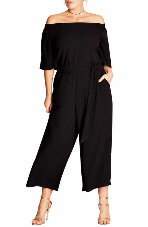76be7fd79806 City Chic Off the Shoulder Jumpsuit (Plus Size)