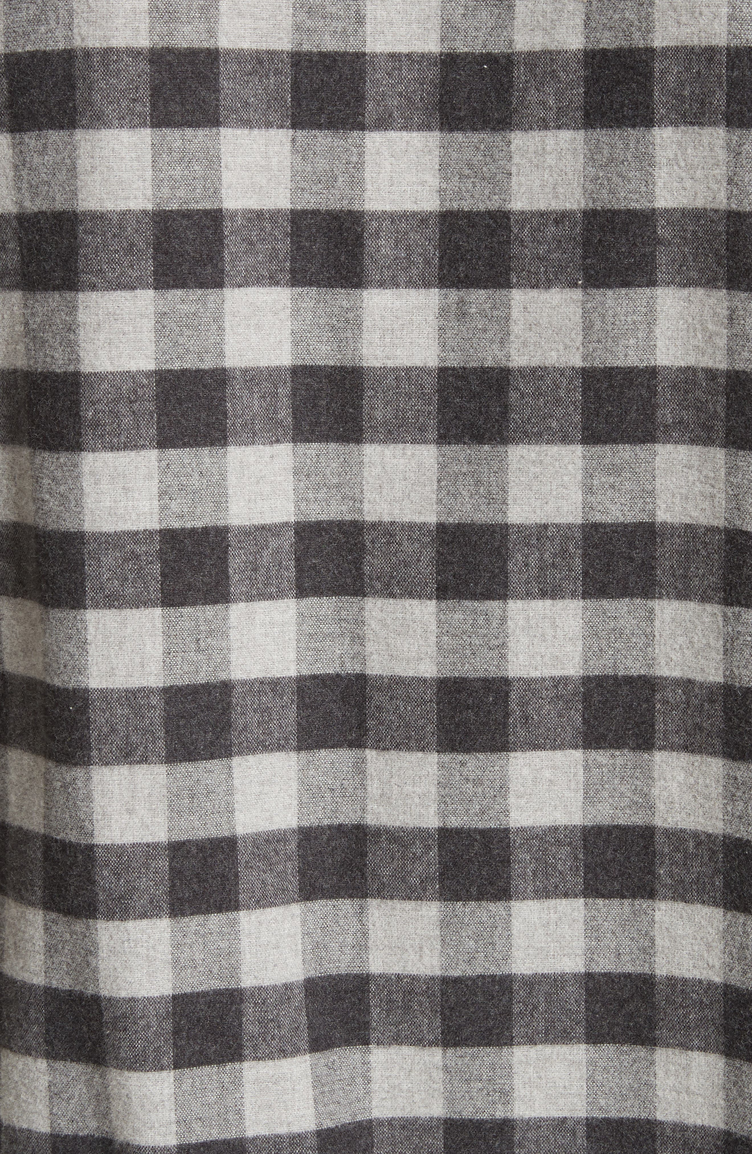 Buffalo Check Flannel Sport Shirt,                             Alternate thumbnail 5, color,                             Black