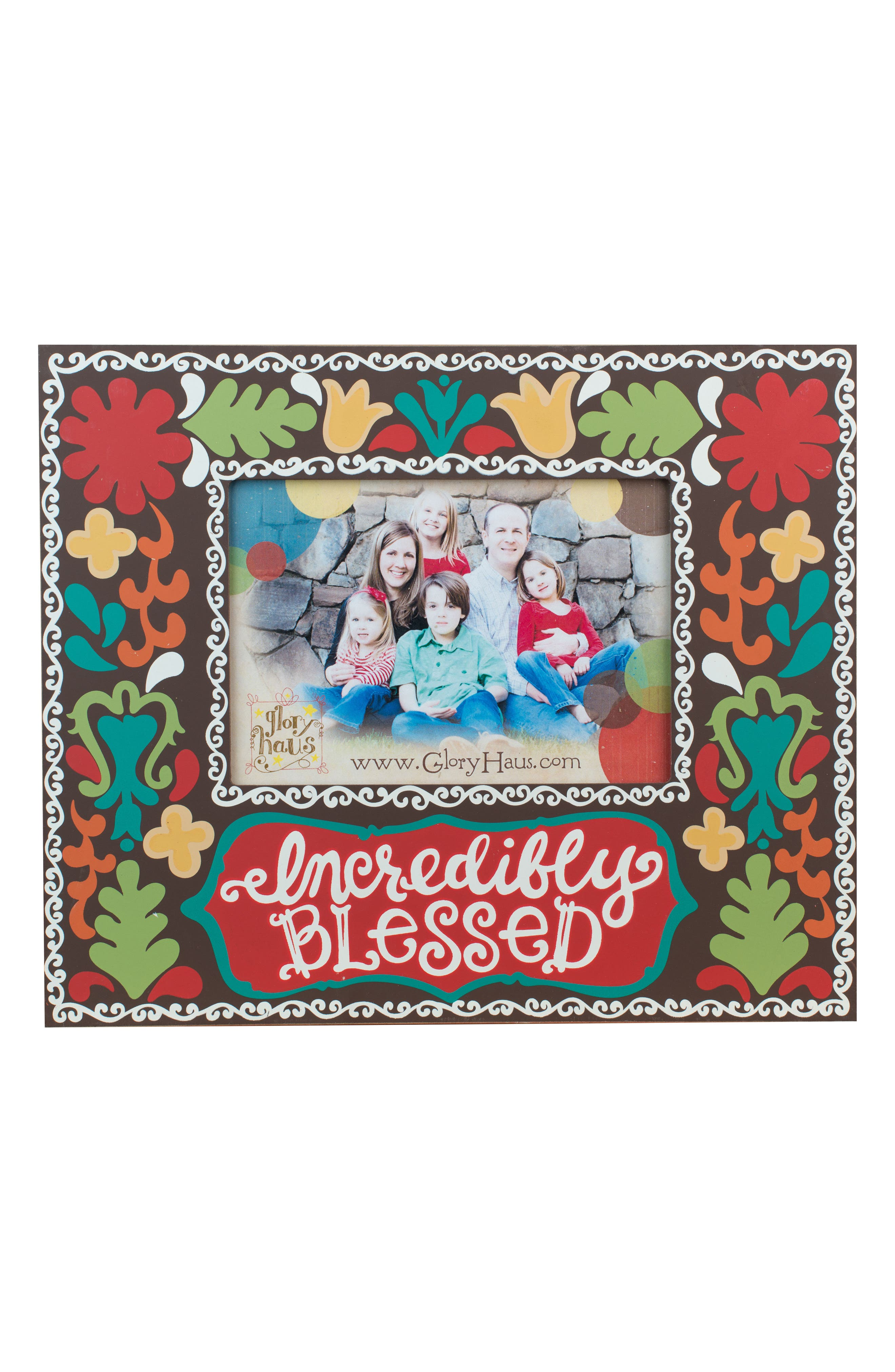 Incredibly Blessed Picture Frame,                         Main,                         color, Chocolate/ Multi