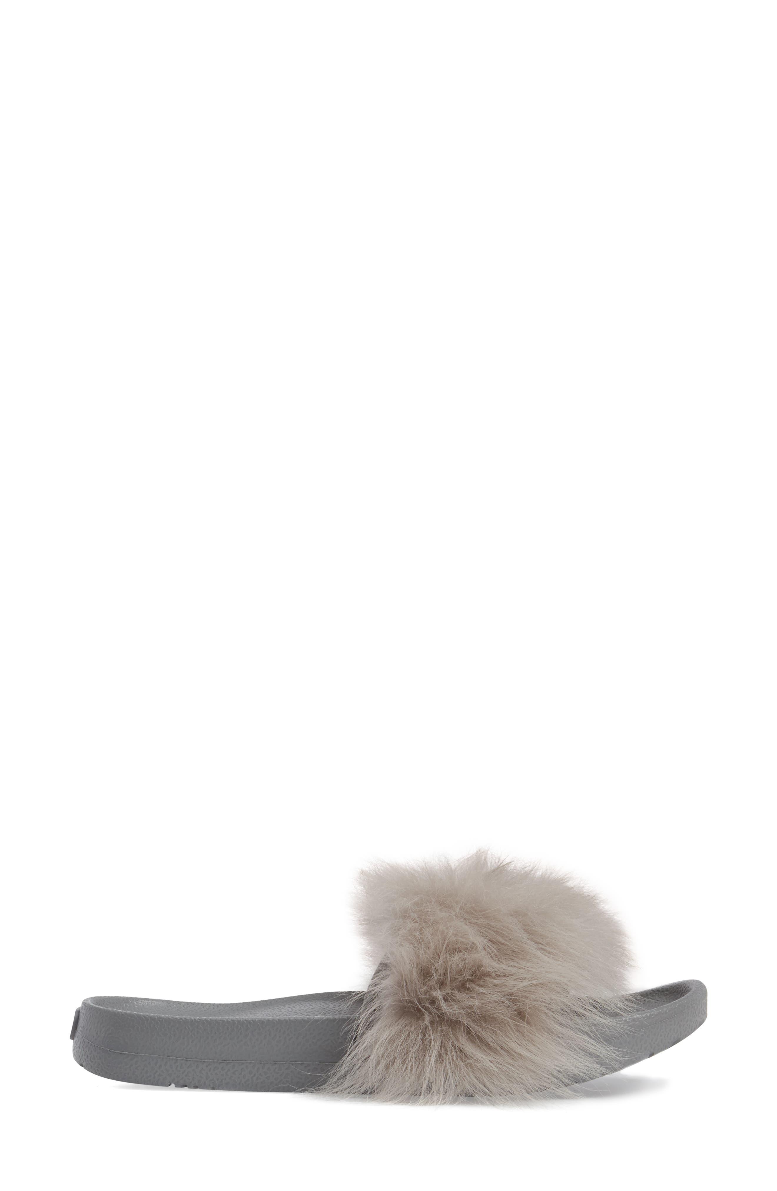Royale Genuine Shearling Slide Sandal,                             Alternate thumbnail 3, color,                             Seal