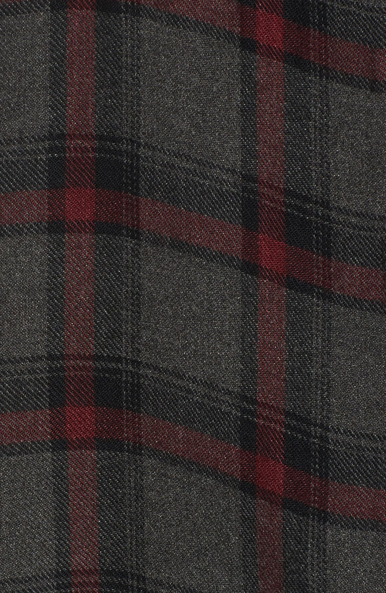 Alternate Image 5  - BP. Flare Sleeve Plaid Shirt
