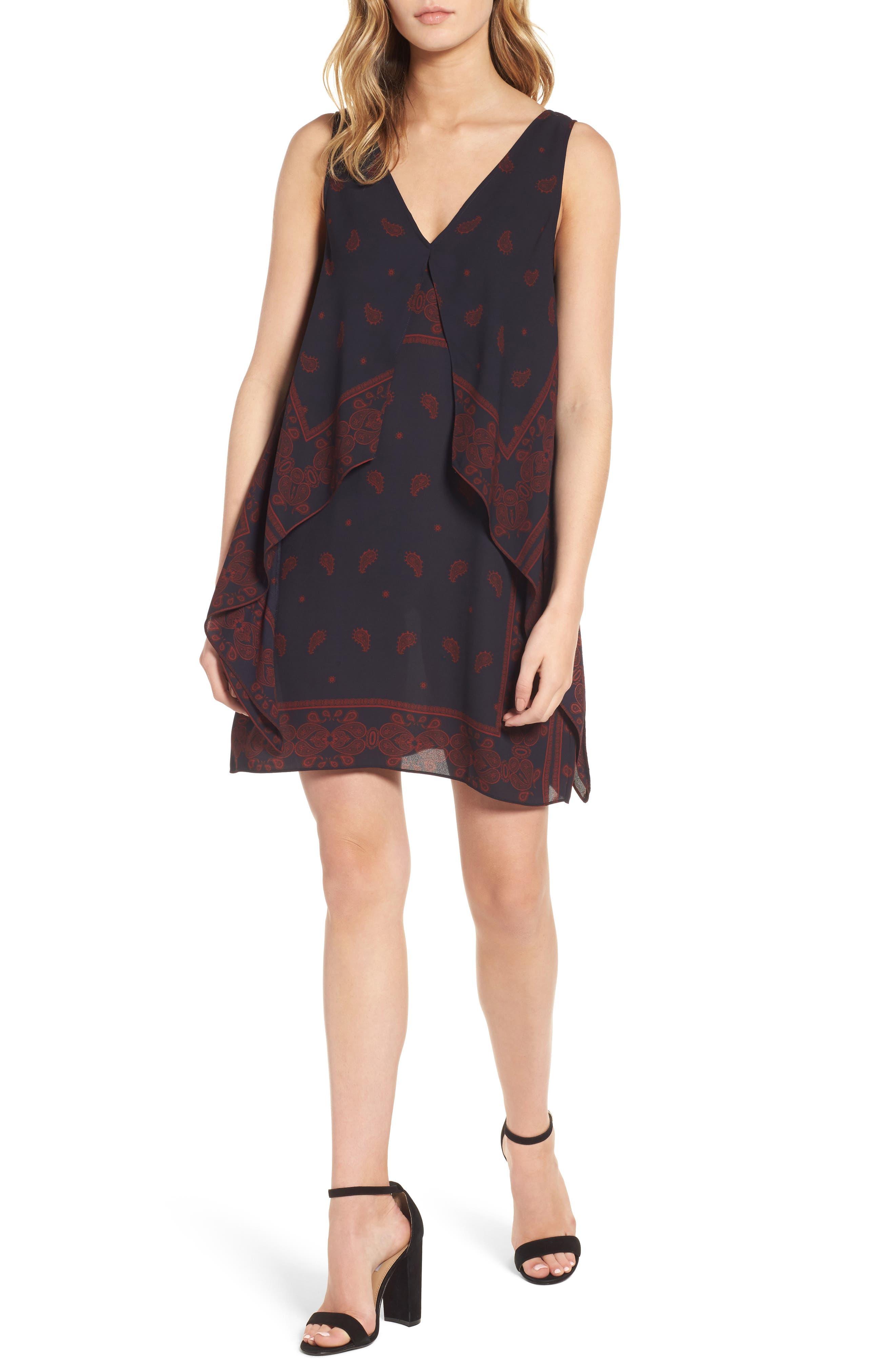 Alternate Image 1 Selected - Chelsea28 Flutter Overlay Shift Dress