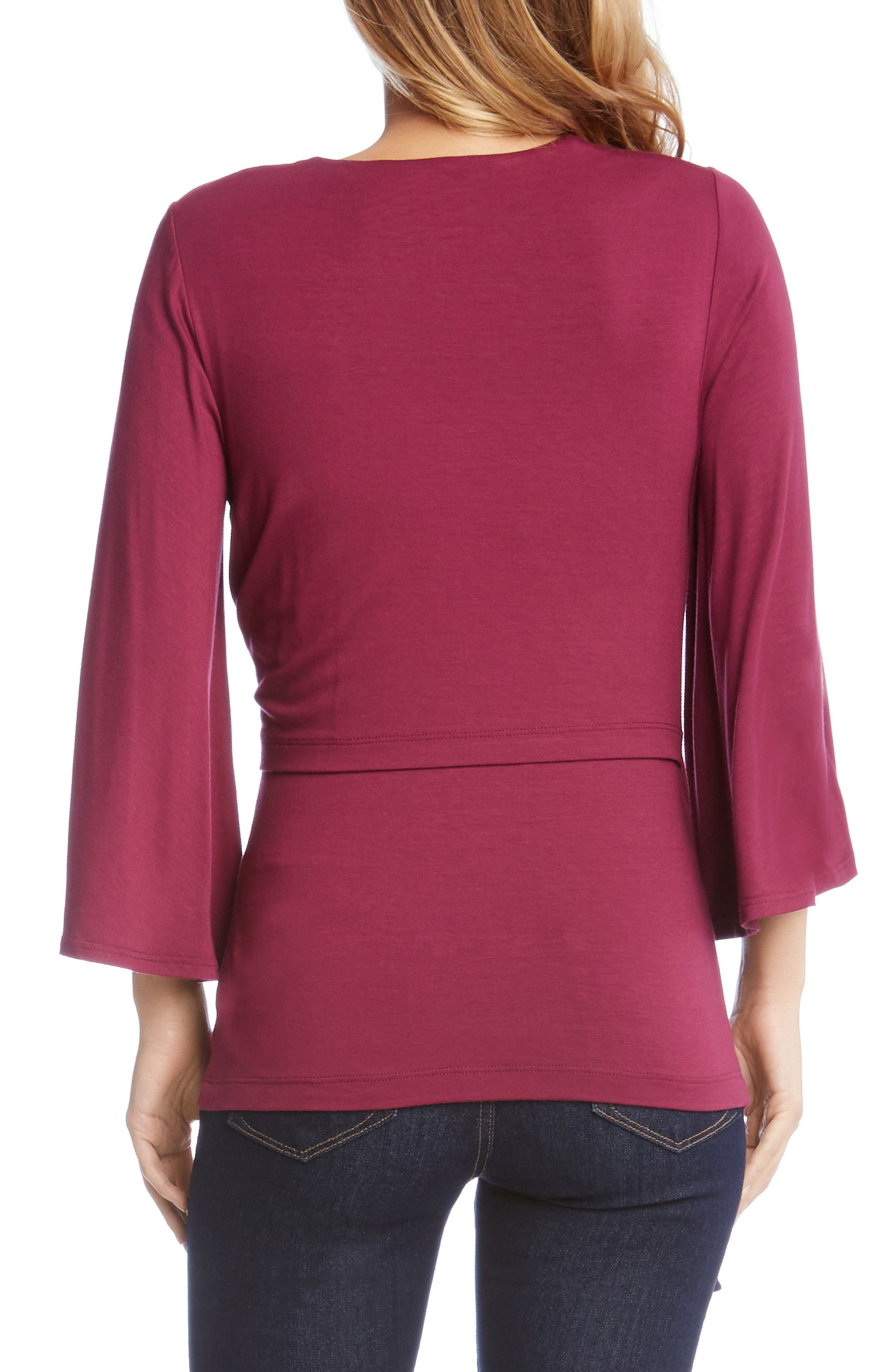Alternate Image 3  - Karen Kane Bell Sleeve Twist Front Top