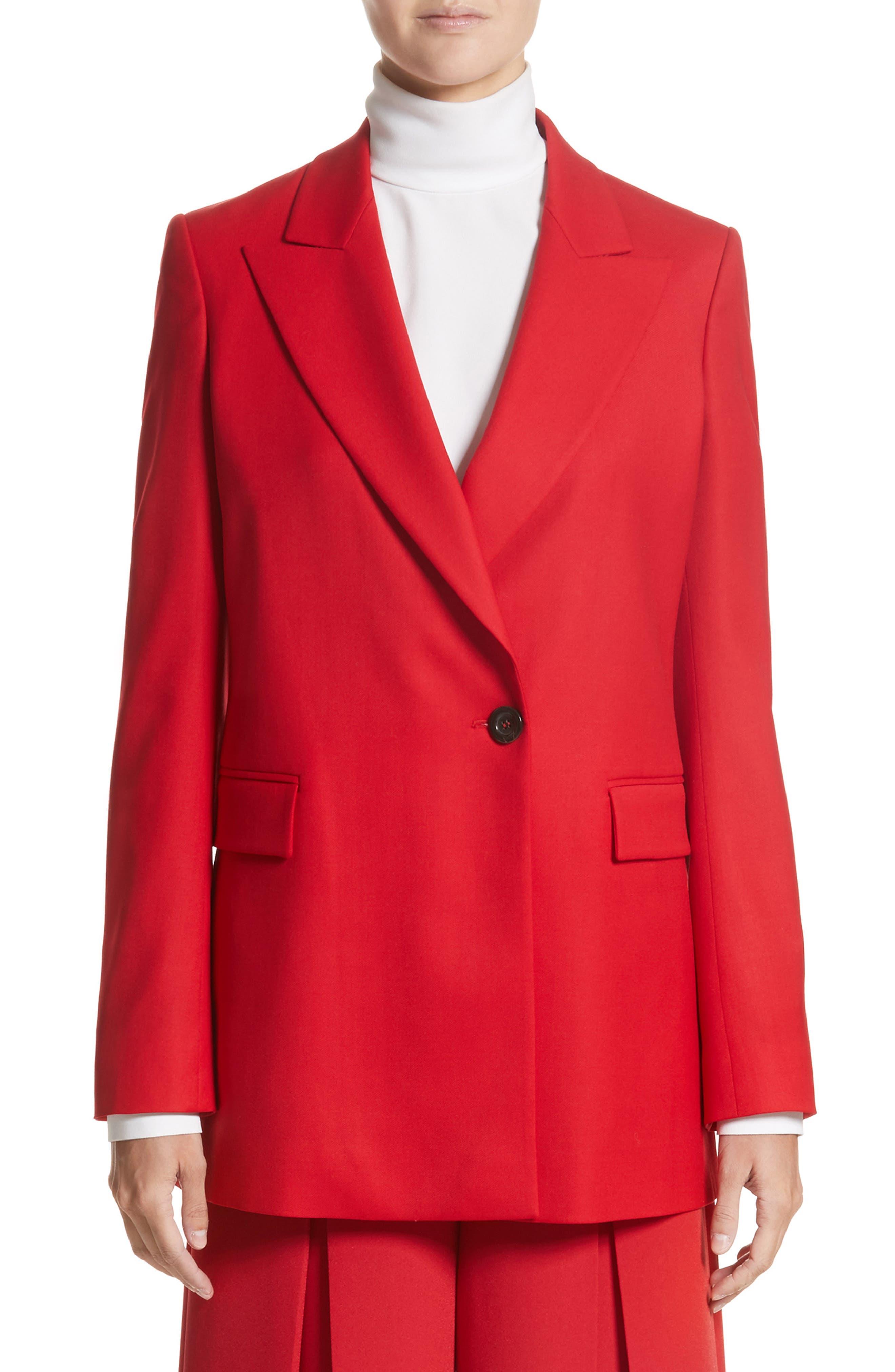 SARA BATTAGLIA Stretch Wool Blazer