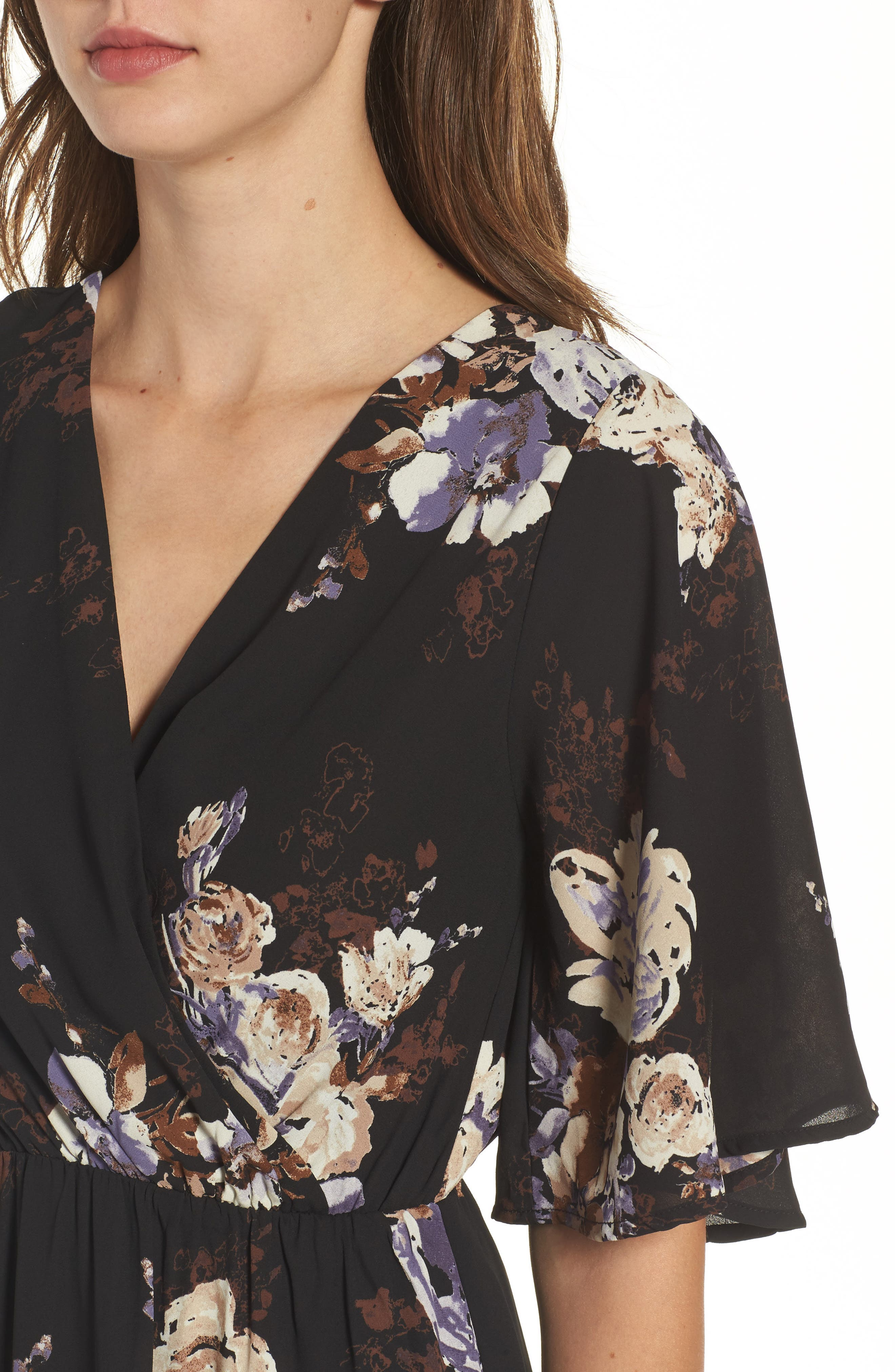 Alternate Image 4  - Everly Floral Print Woven Maxi Dress