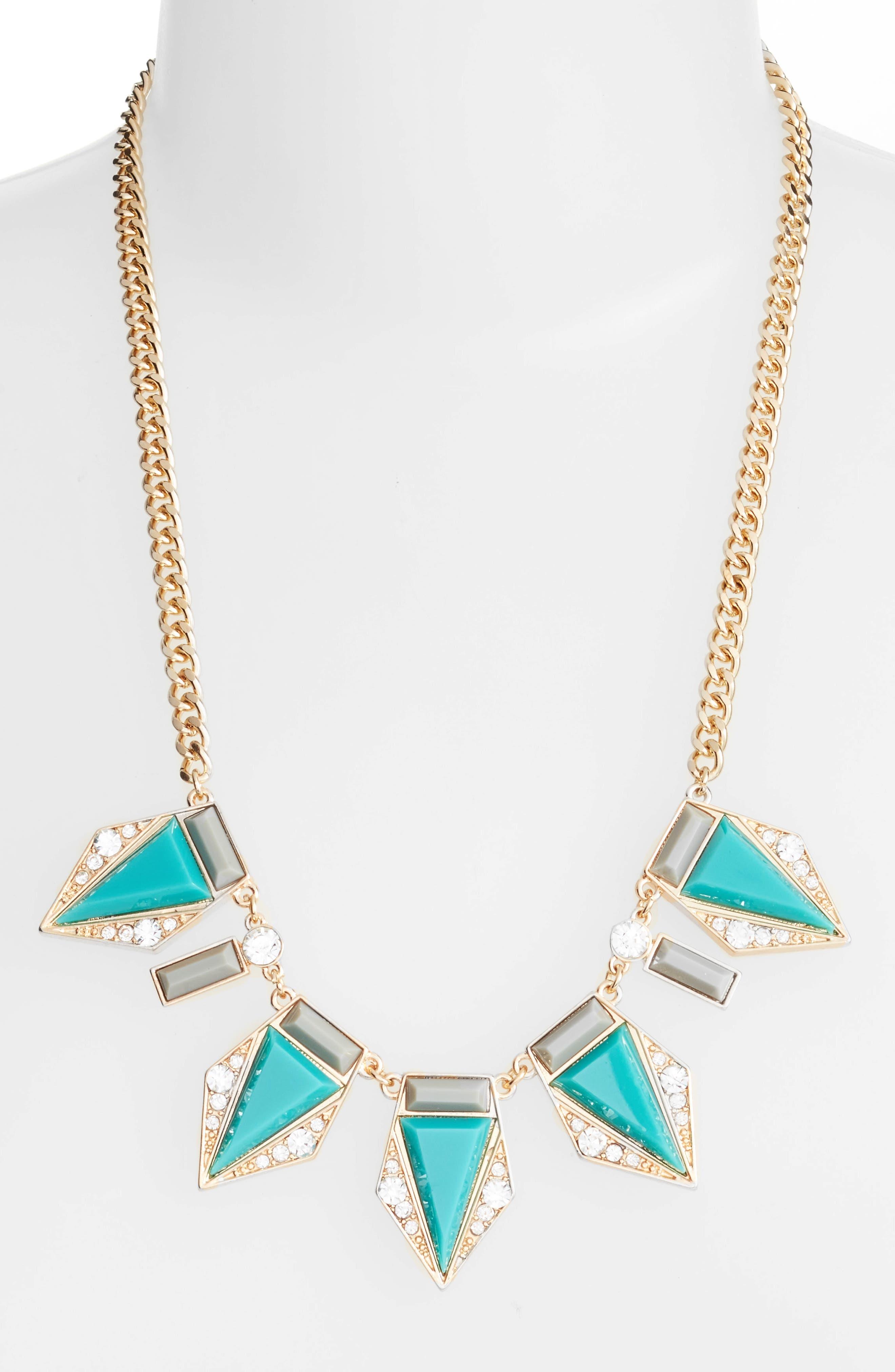 Alternate Image 2  - Adia Kibur Triangle Stone Necklace